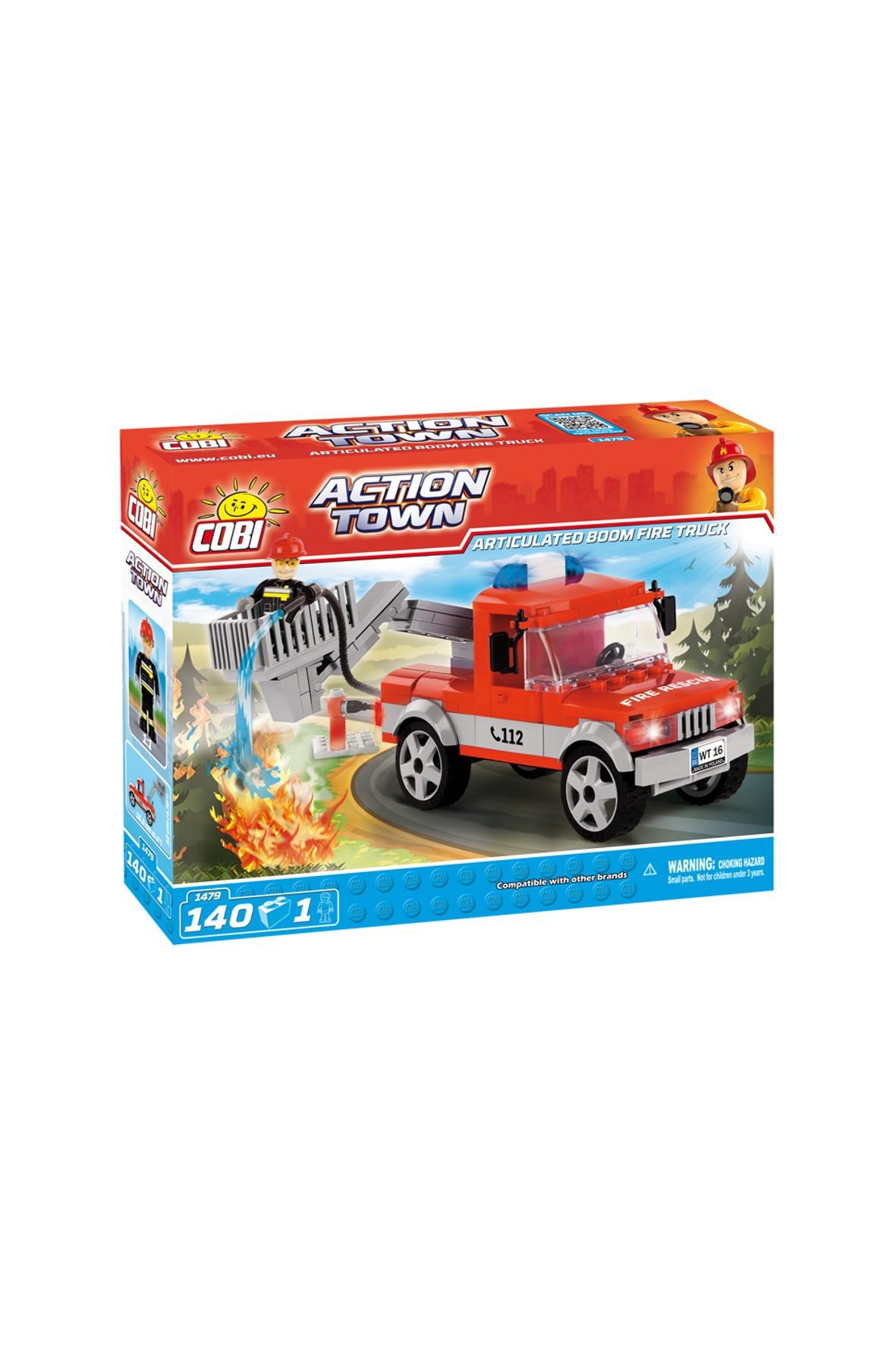 Klocki COBI Ciężarówka strażacka-140el