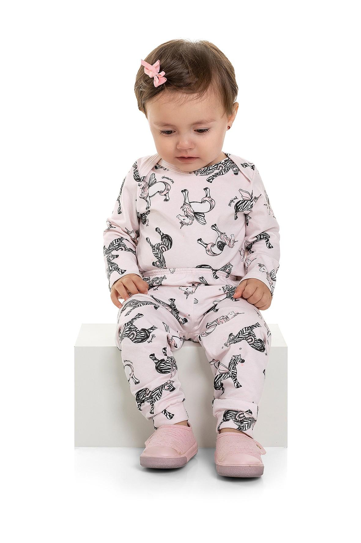 Spodnie niemowlęce w jednorożce i zebry