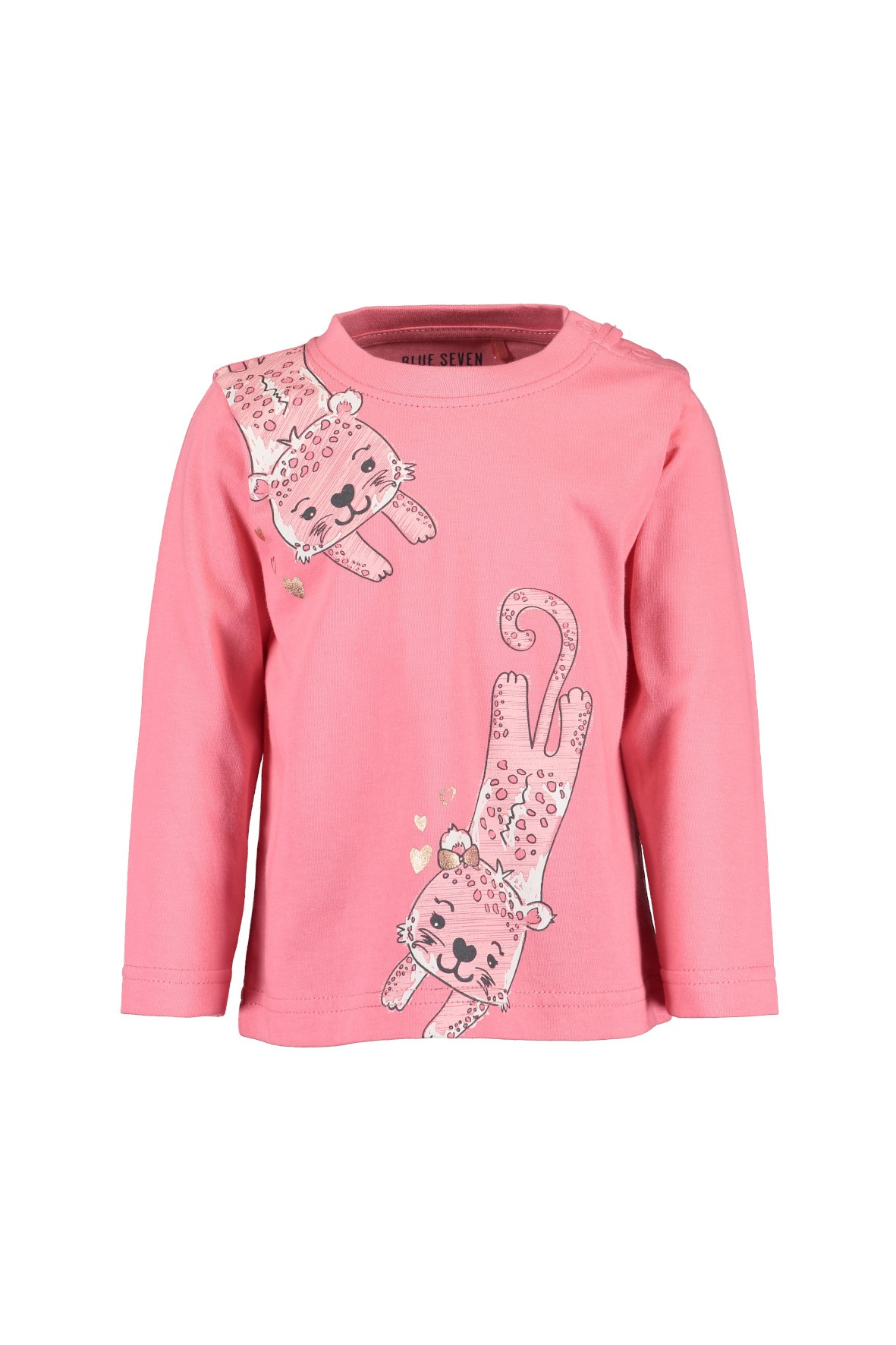 Różowa bluzka w tygrysy- długi rękaw