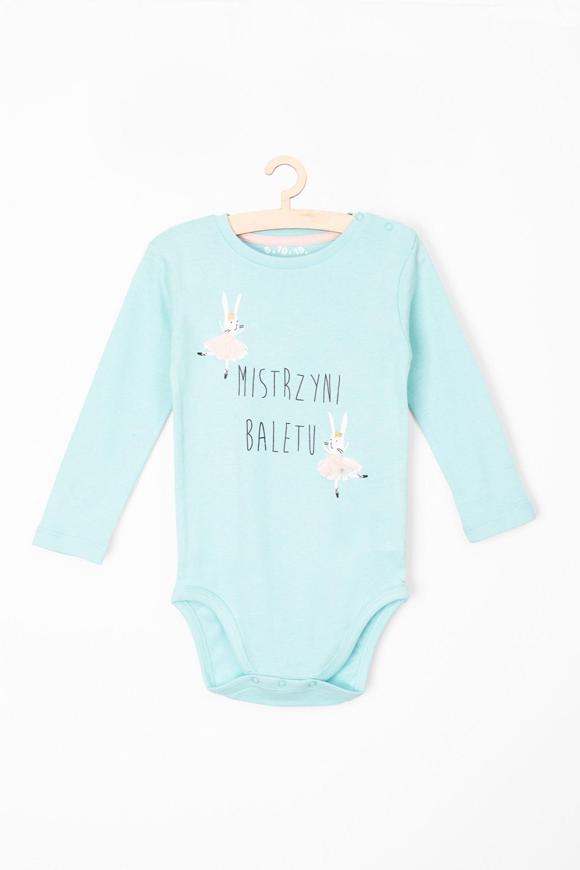 Bawełniane body niemowlęce z napisem Mistrzyni Baletu
