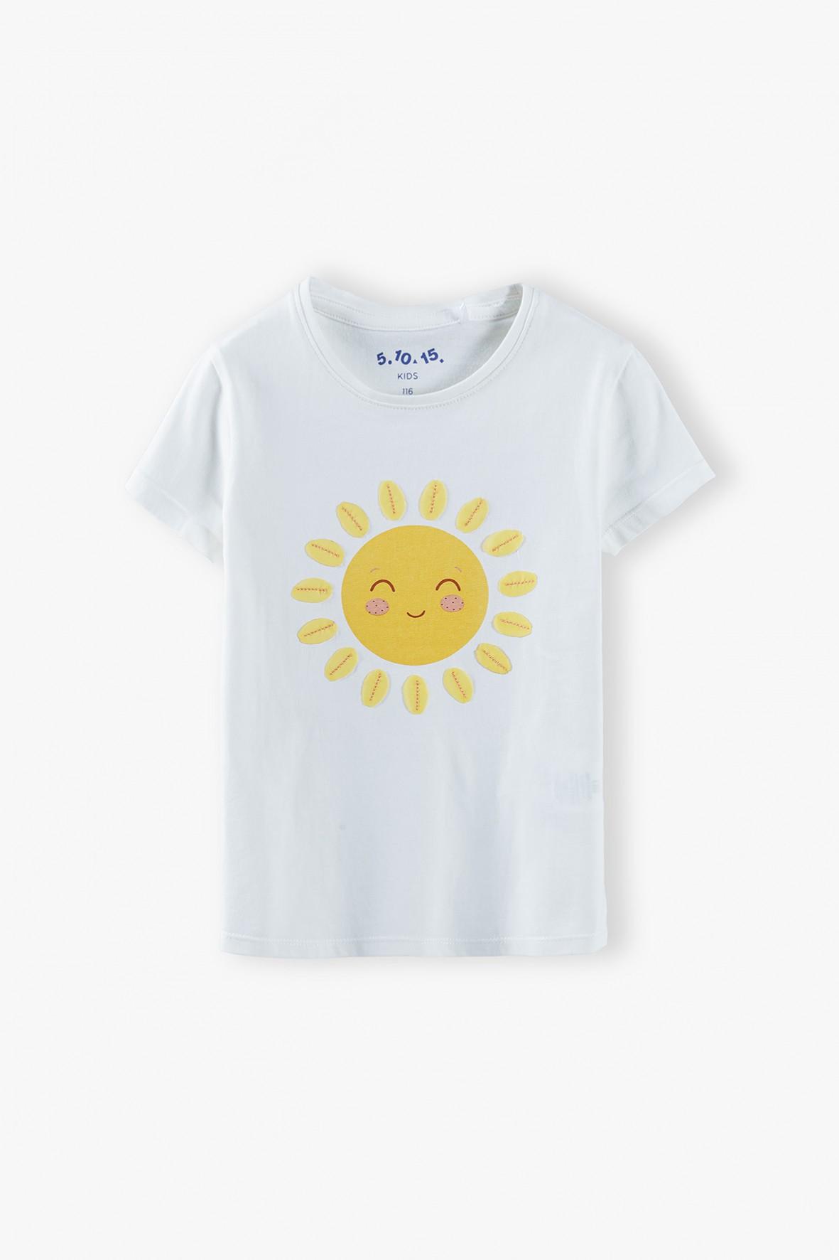 Bluzka dziewczęca ze słoneczkiem- 100% bawełna