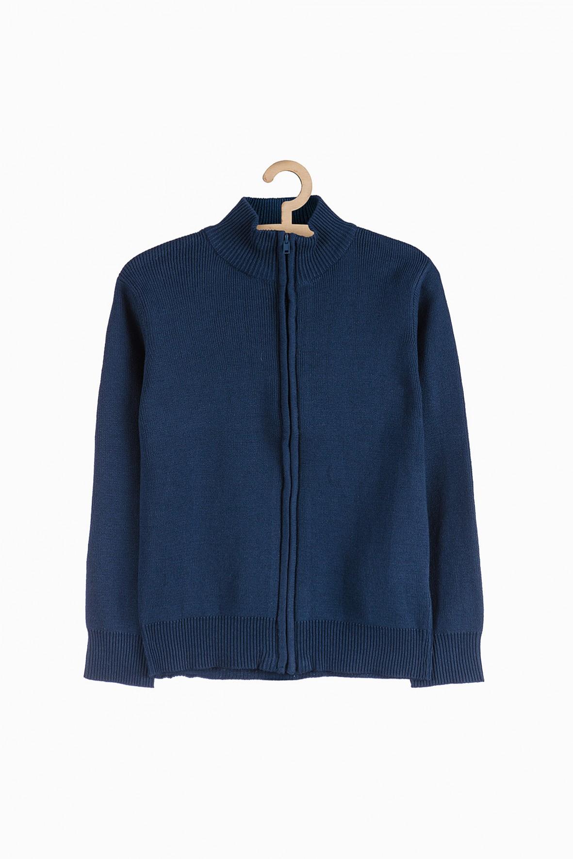Granatowy sweter dla chłopca