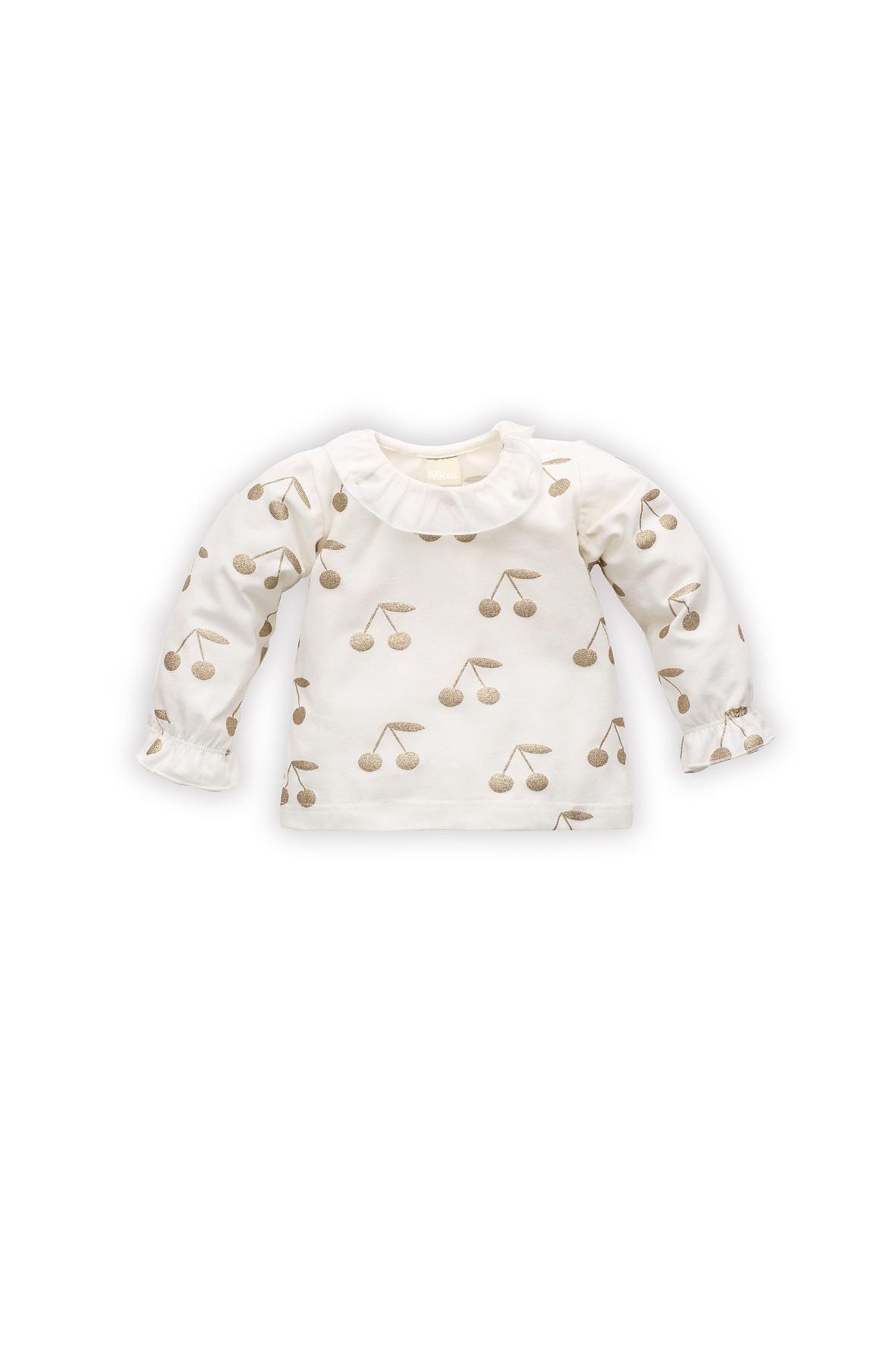 Bluzka z długim rękawem dla niemowlak Princess z wisienkami