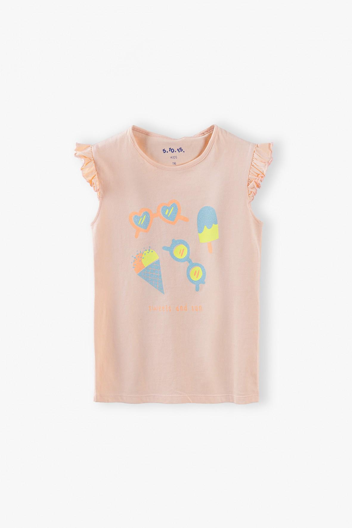 Bluzka dziewczęca z napisem Sweets and Sun