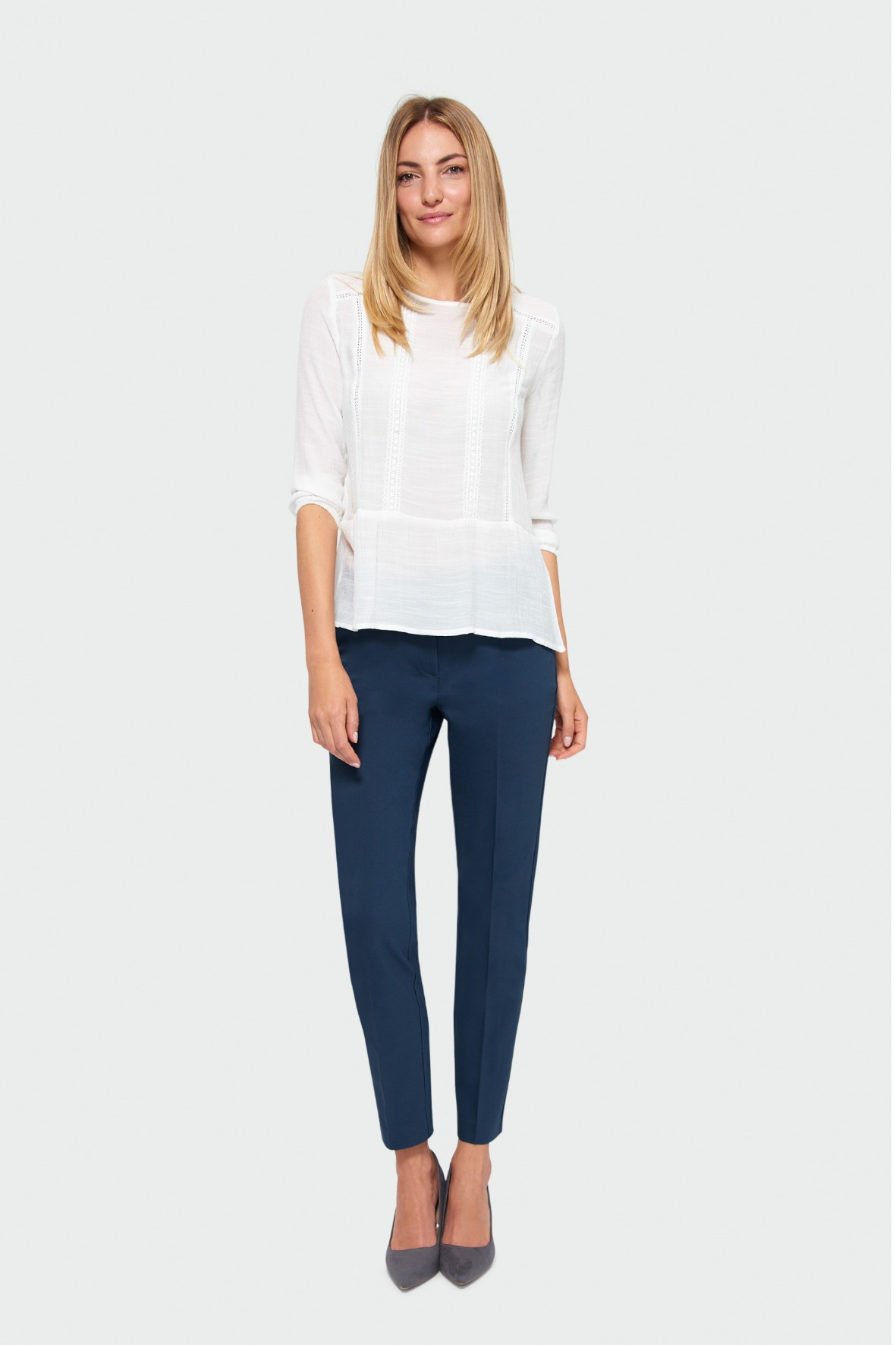 Elegancka bluzka damska - biała