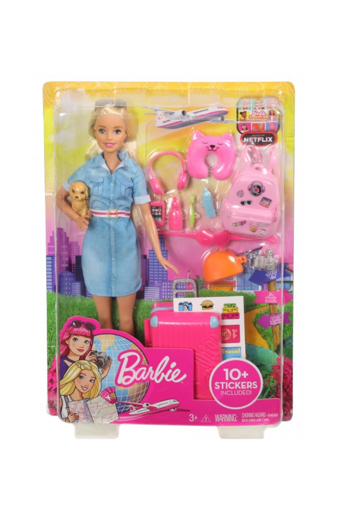 Barbie Dreamhouse Adventures - Lalka w podróży z pieskiem wiek 3+