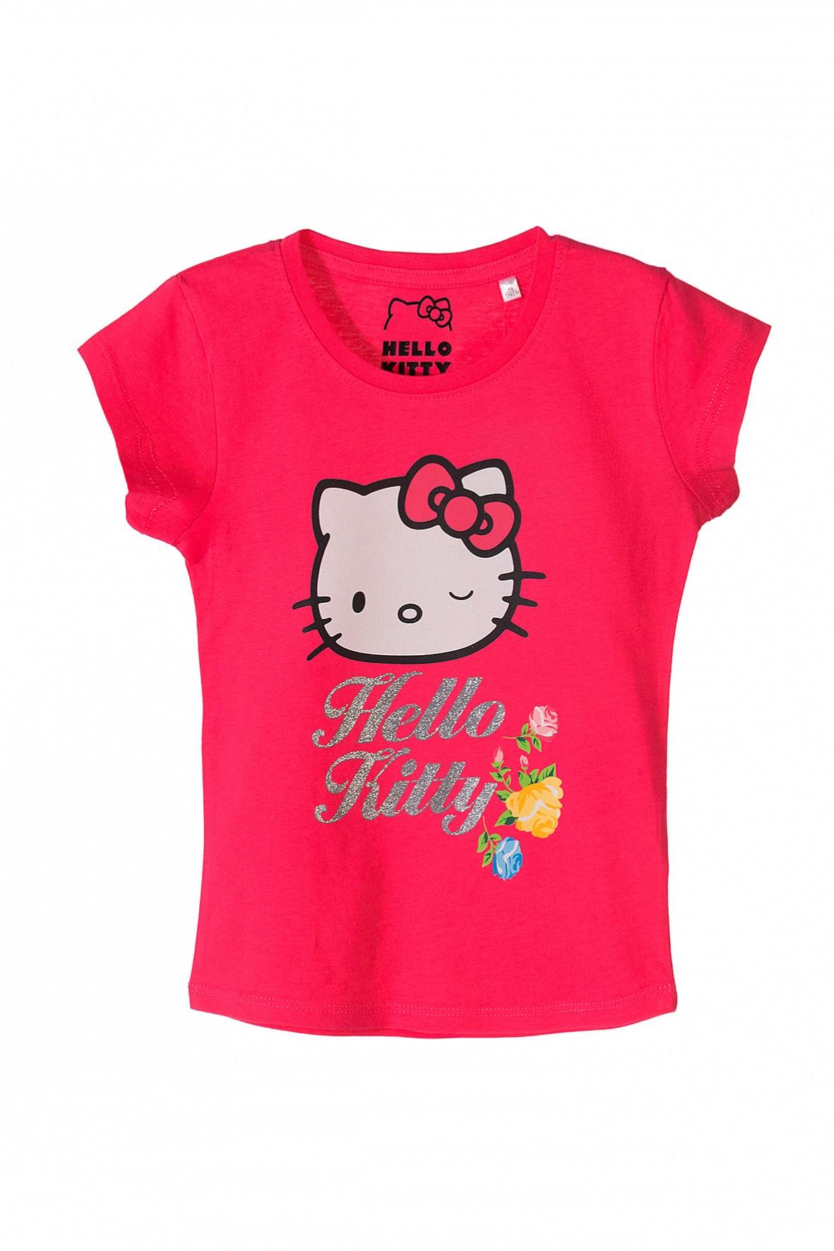 Koszulka dziewczęca różowa Hello Kitty