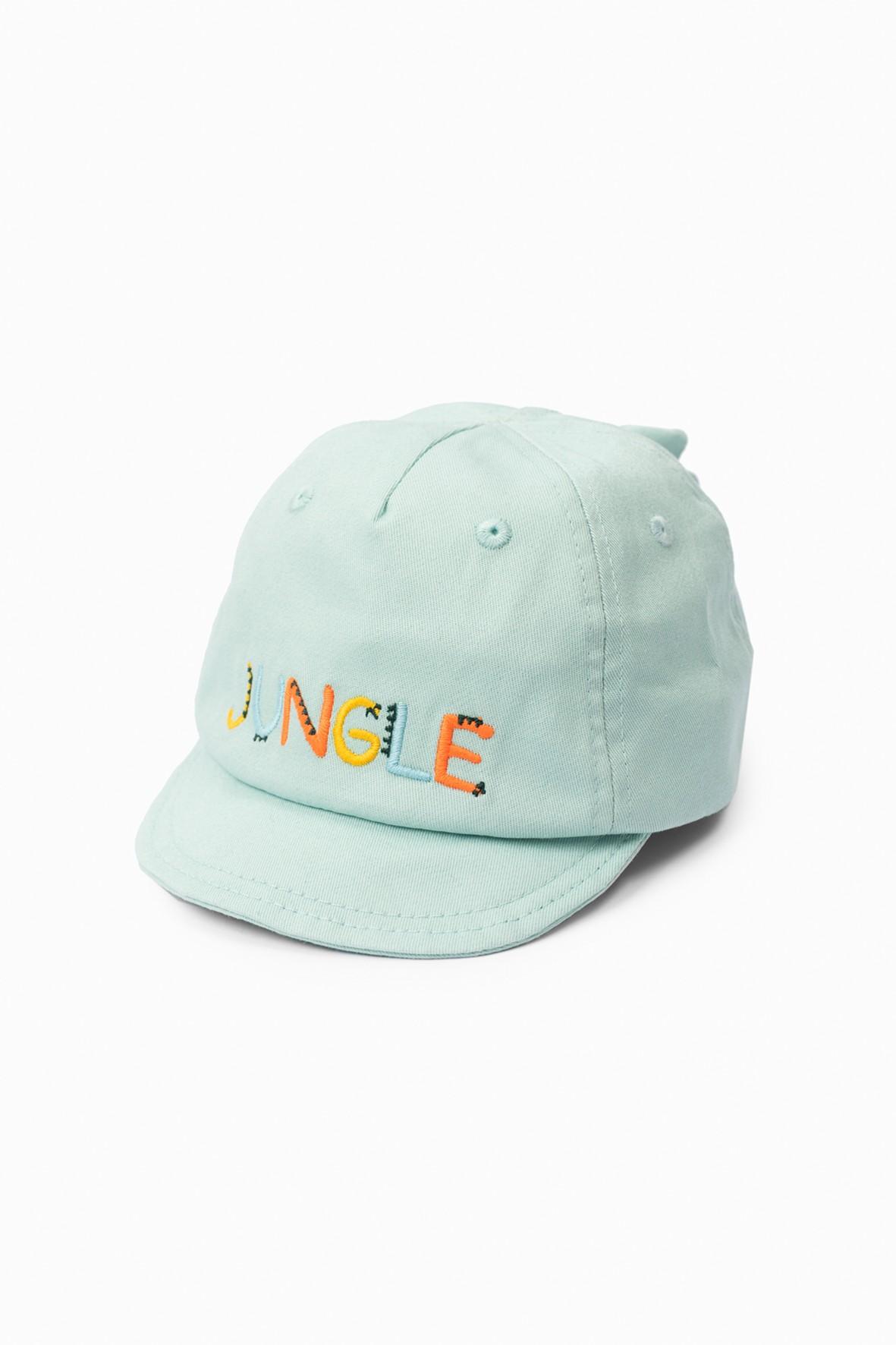 Zielona czapka niemowlęca z daszkiem- Jungle