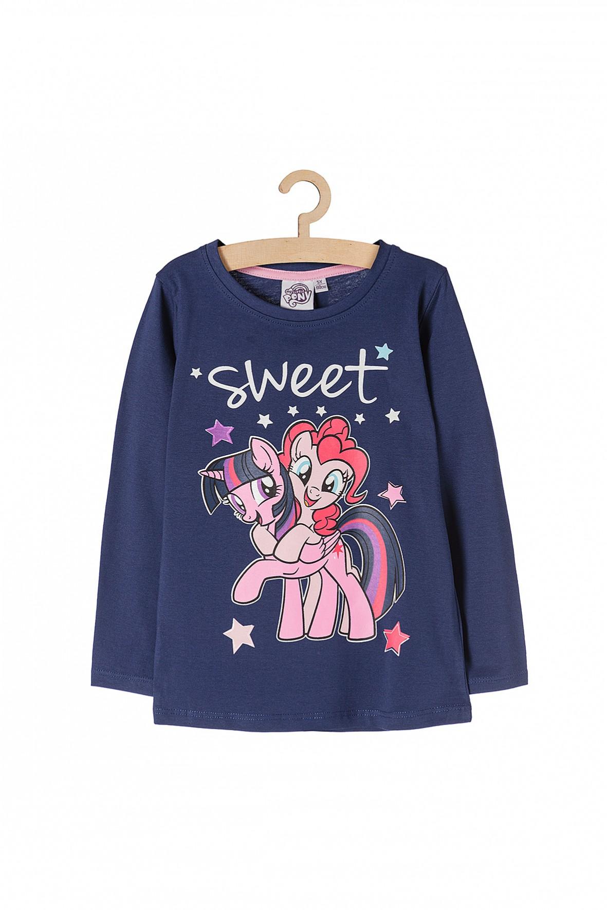 Bluzka dziewczęca granatowa Pony