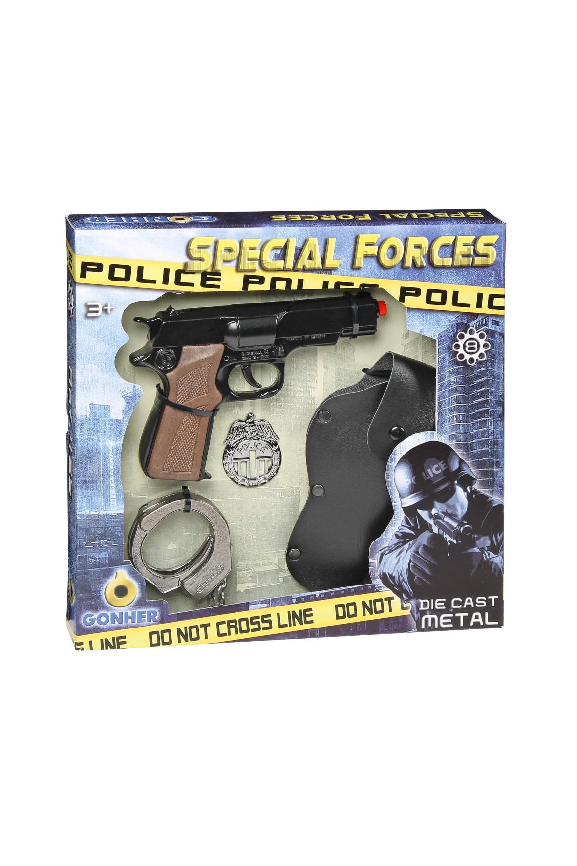 Zestaw policjanta Gonher 3+