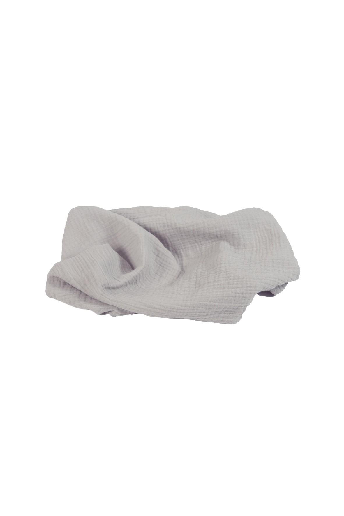 Otulacz muślinowy szary 100% bawełna roz. 80x120cm