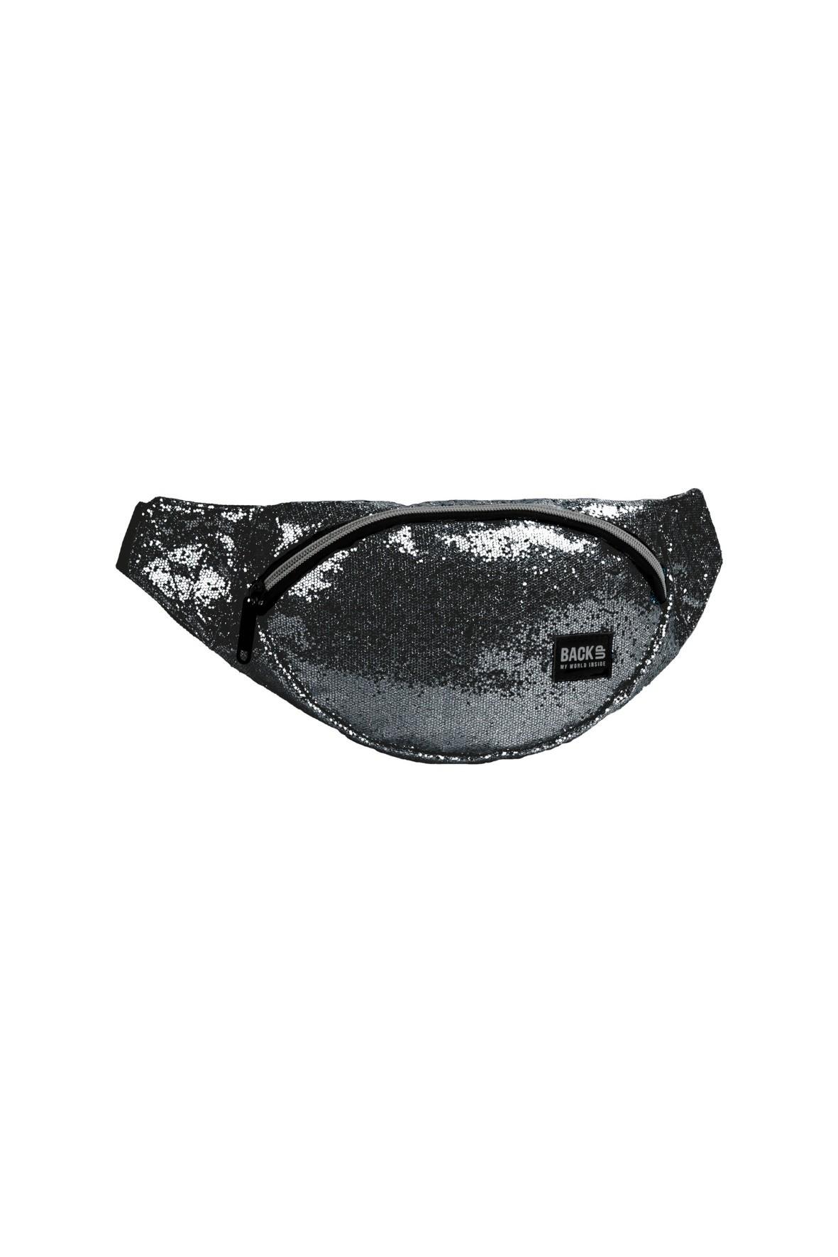 Torba na biodra- czarny brokat