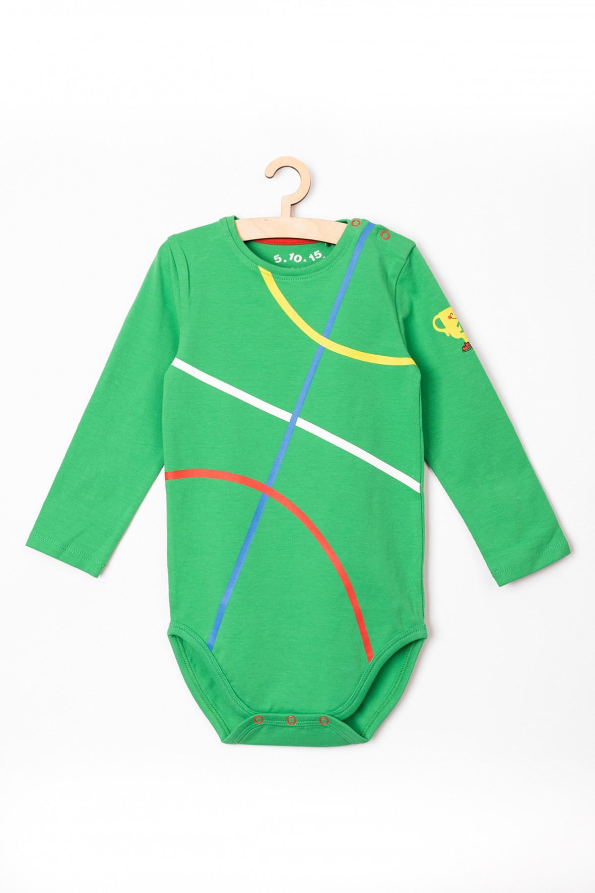 Body niemowlęce zielone z długim rękawem