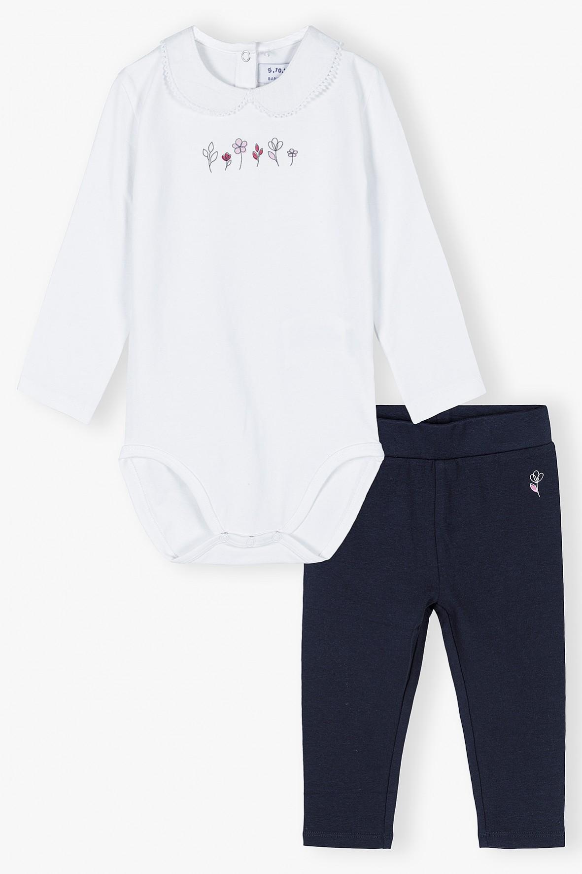 Komplet  niemowlęcy - body i legginsy