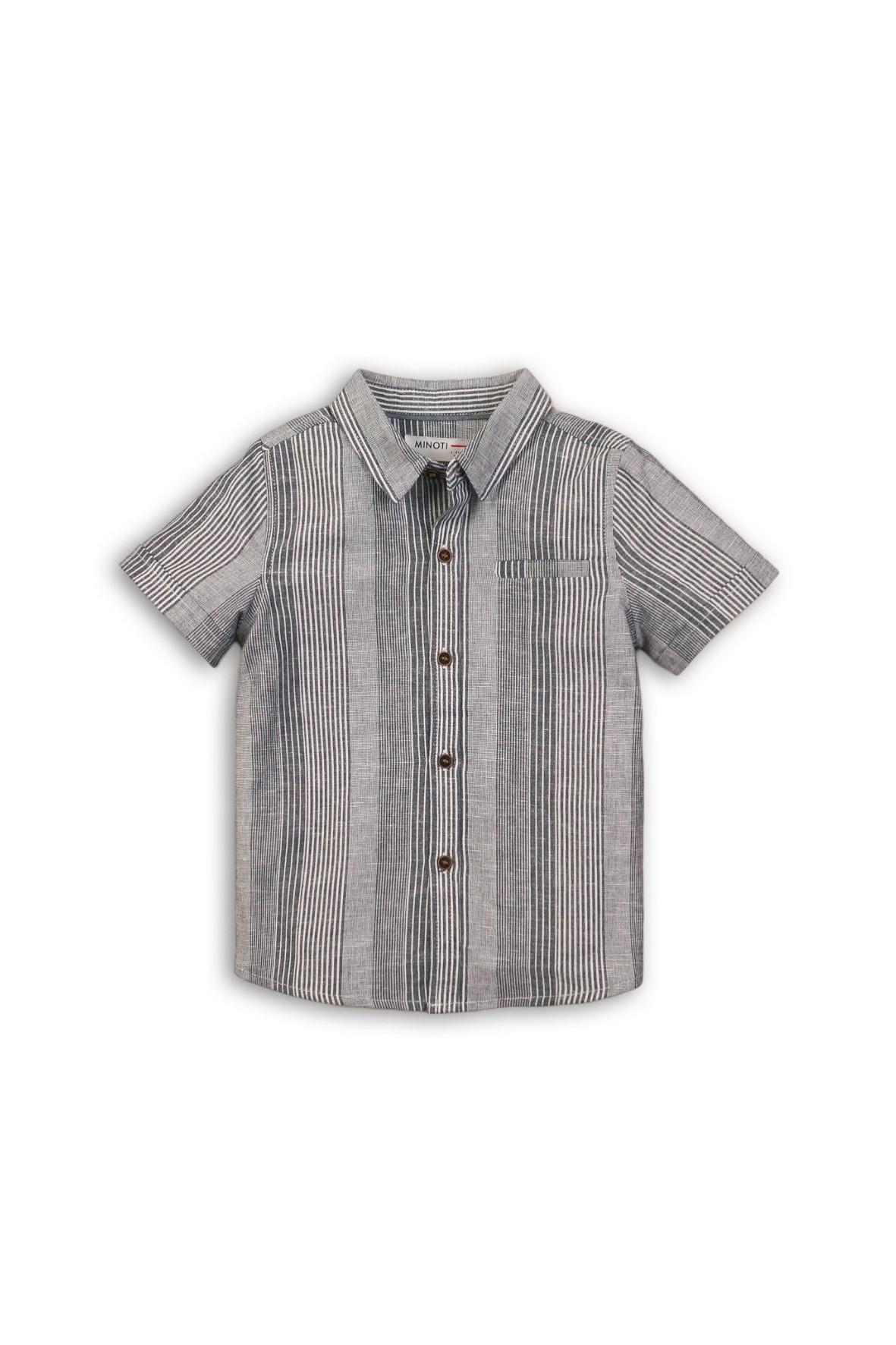 Koszula niemowlęca szara z krótkim rękawem