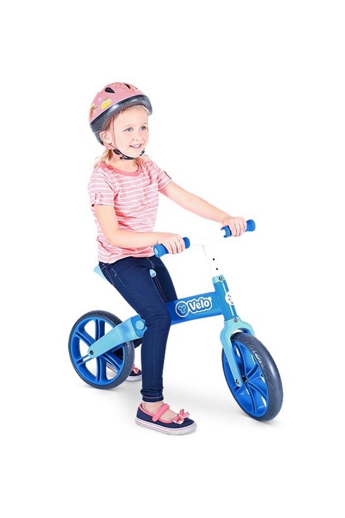 Rowerek biegowy Velo balance Yvolution niebieski