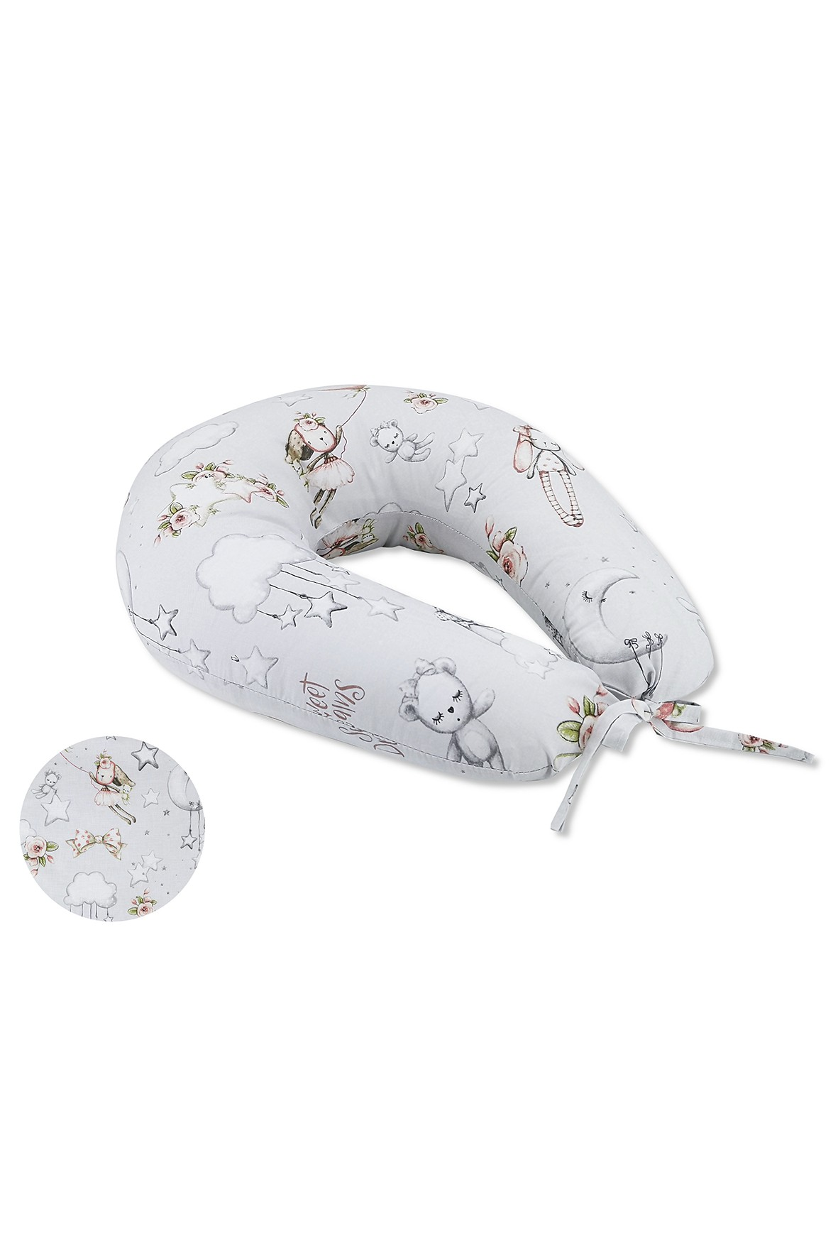 Bawełniana poduszka do karmienia 185cm obwód - Kolorowe sny