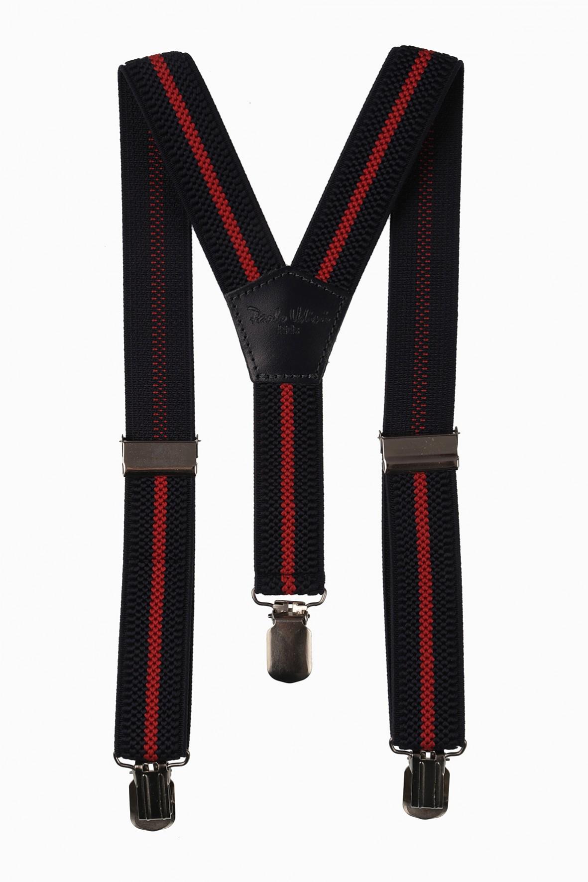 Szelki do spodnie- granatowo-czerwone