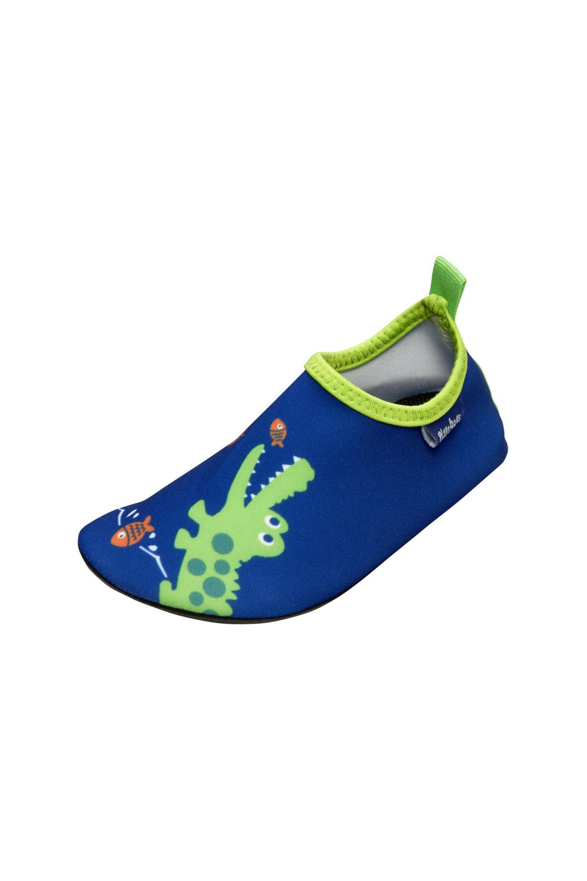 Buty kąpielowe- granatowe z krokodylem