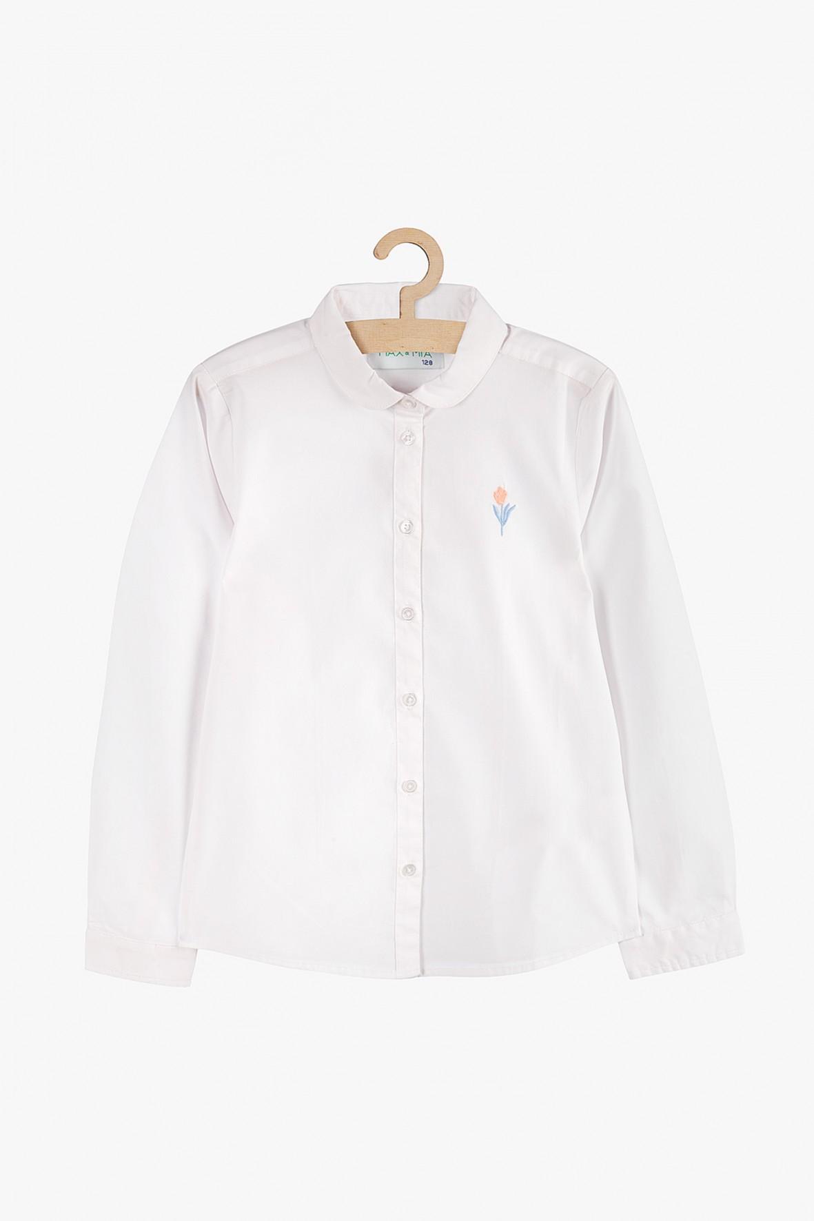 Koszula rozpinana dziewczęca biała