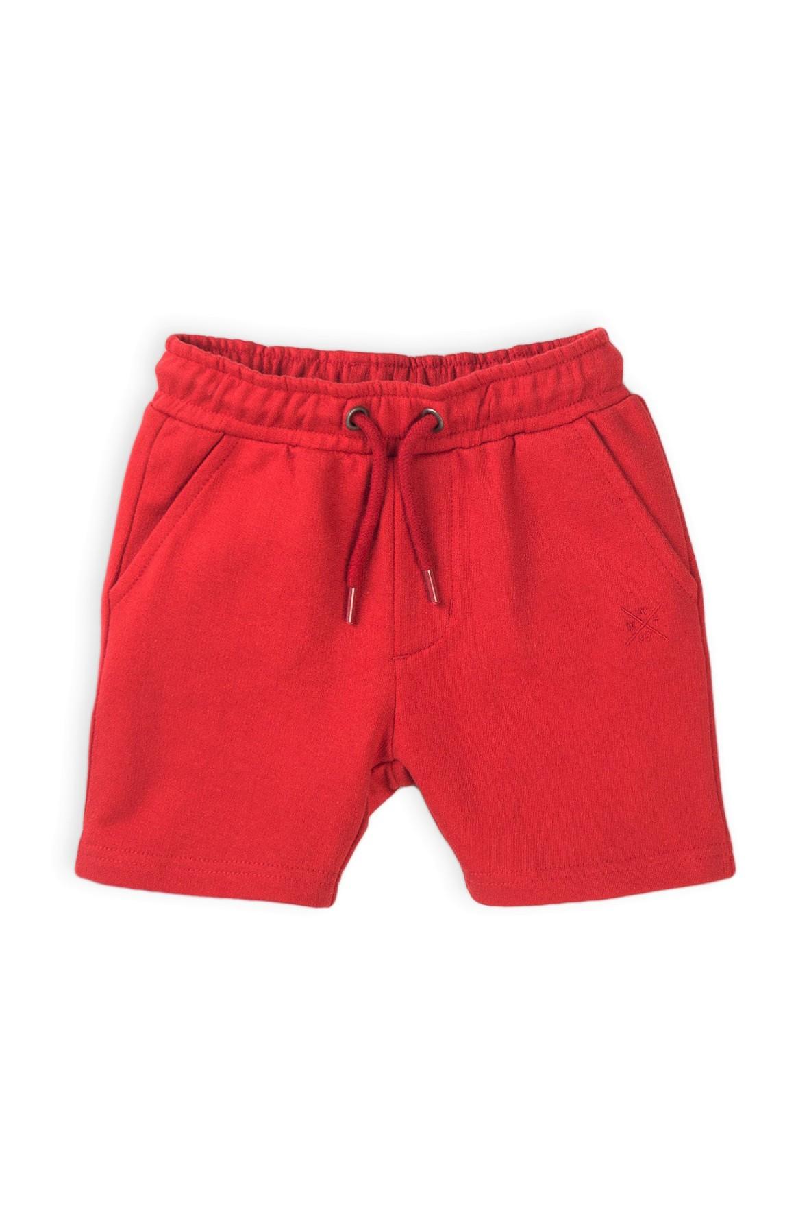 Szorty niemowlęce w kolorze czerwonym