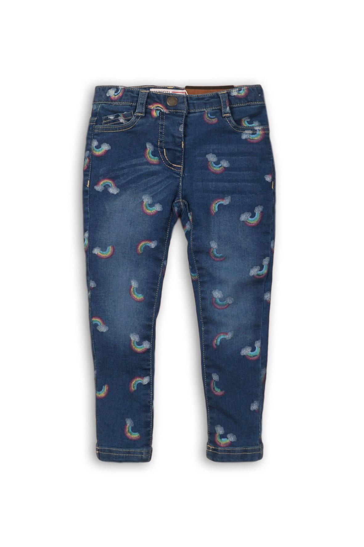 Spodnie dziewczęce granatowe -Tęcza
