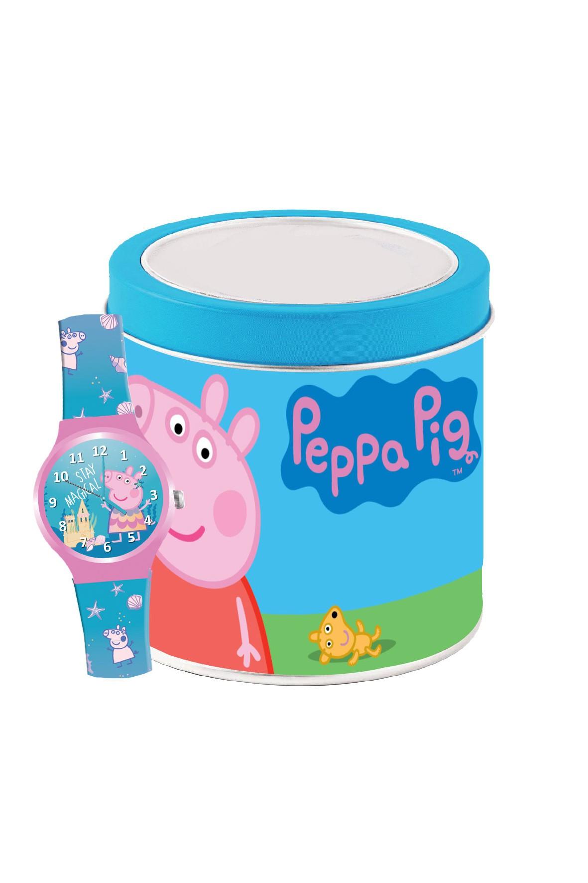 Zegarek analogowy Świnka Peppa w puszce 4+
