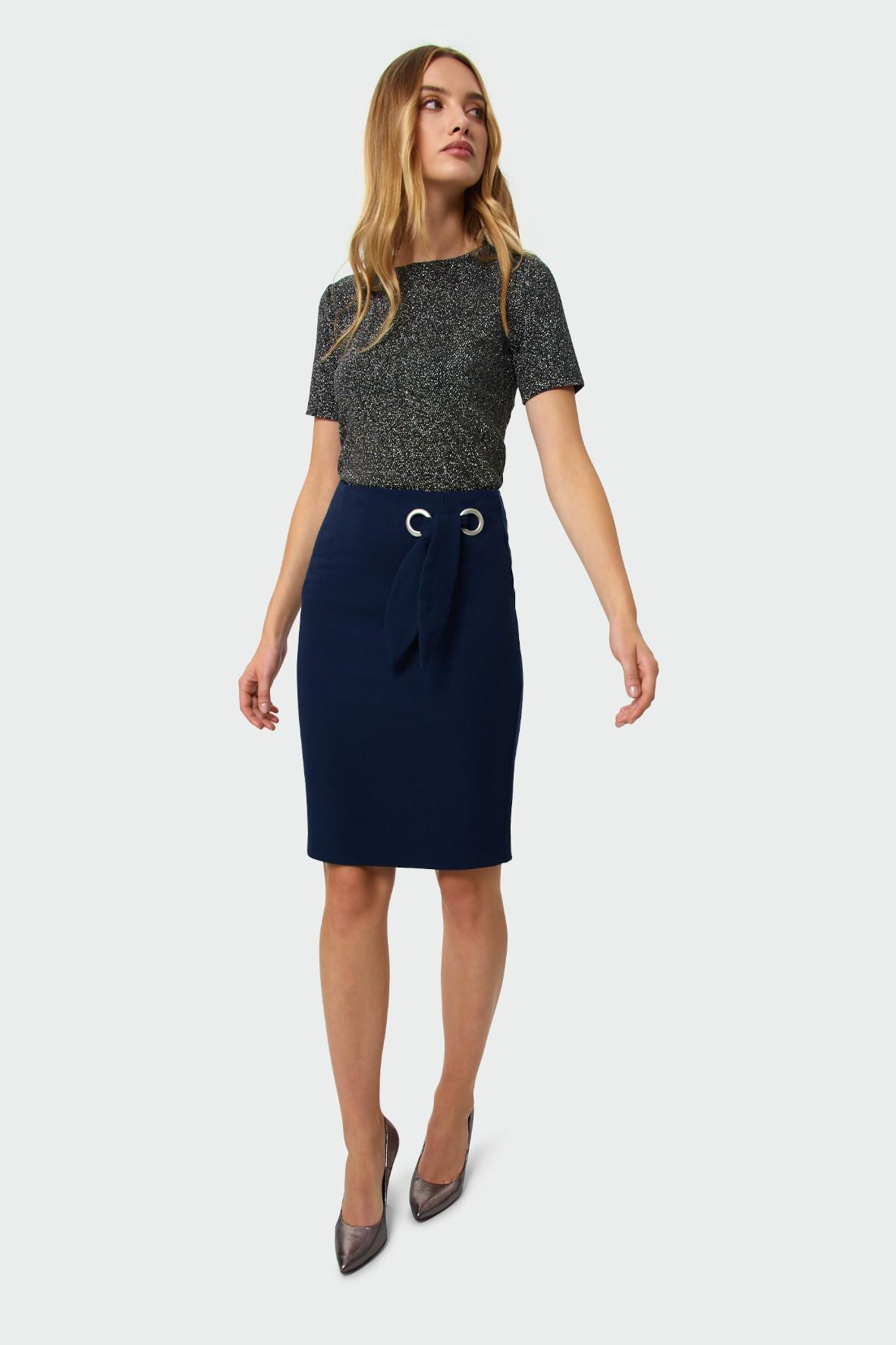 Elegancka bluzka dzianinowa - szara