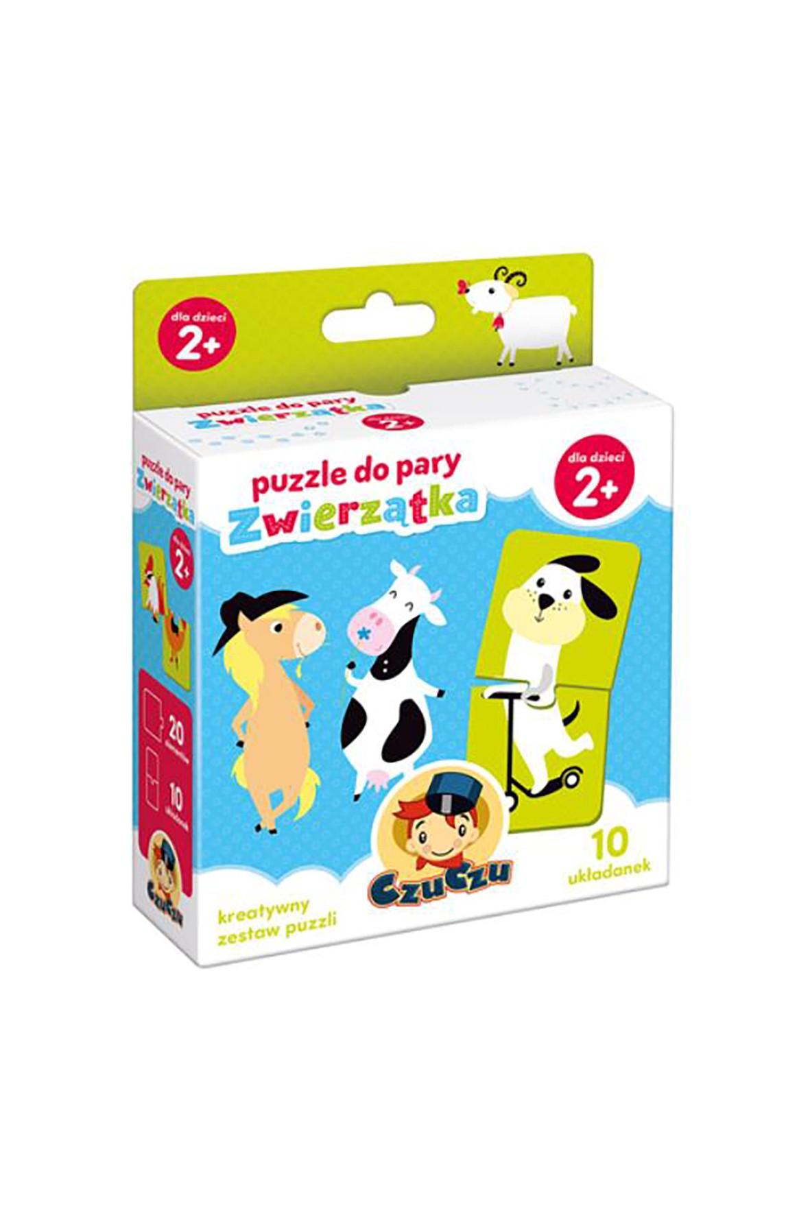 Puzzle do pary Zwierzątka CzuCzu 10el 2+