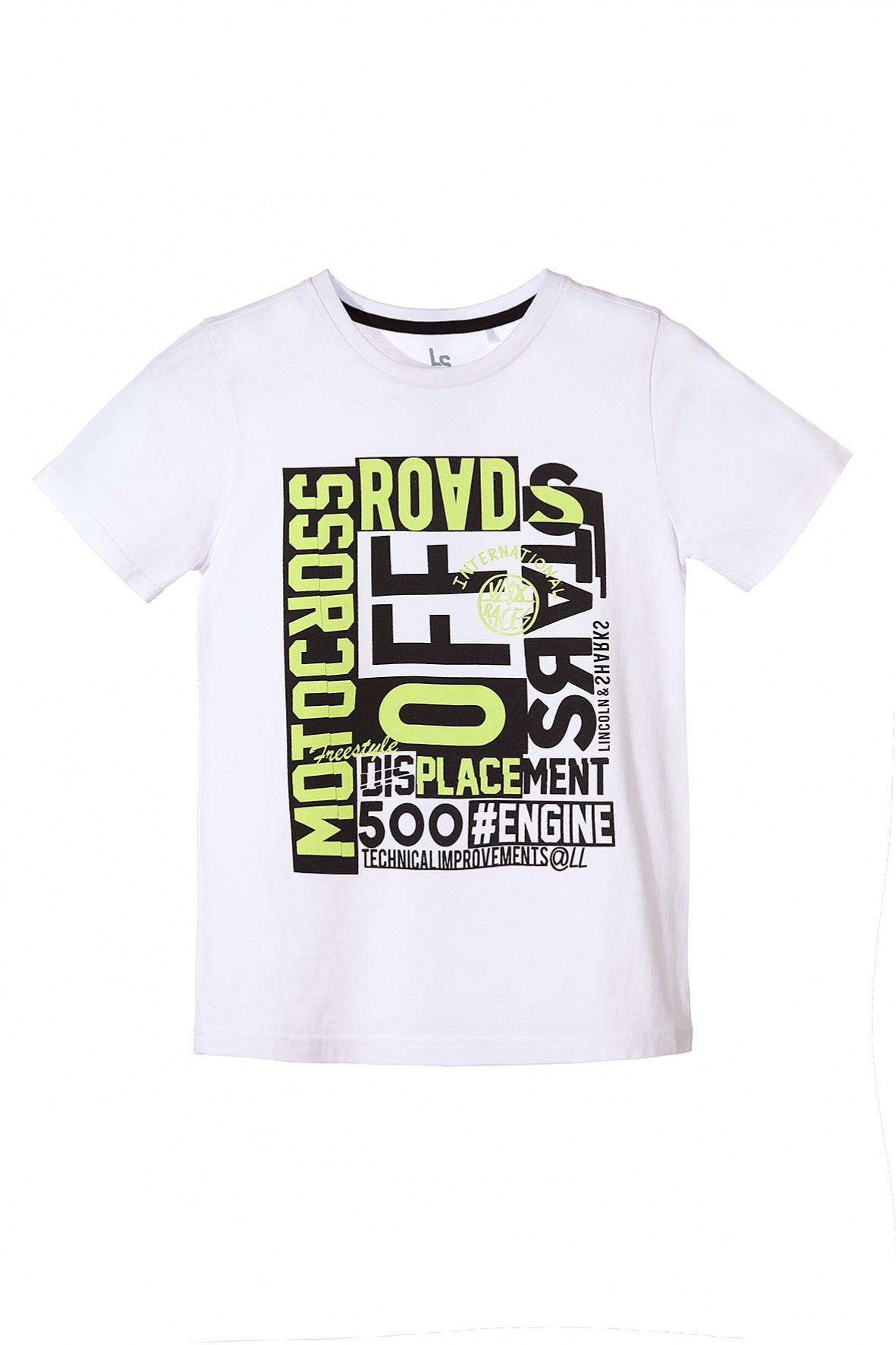 T-shirt dla chłopca z motocyklowymi motywami