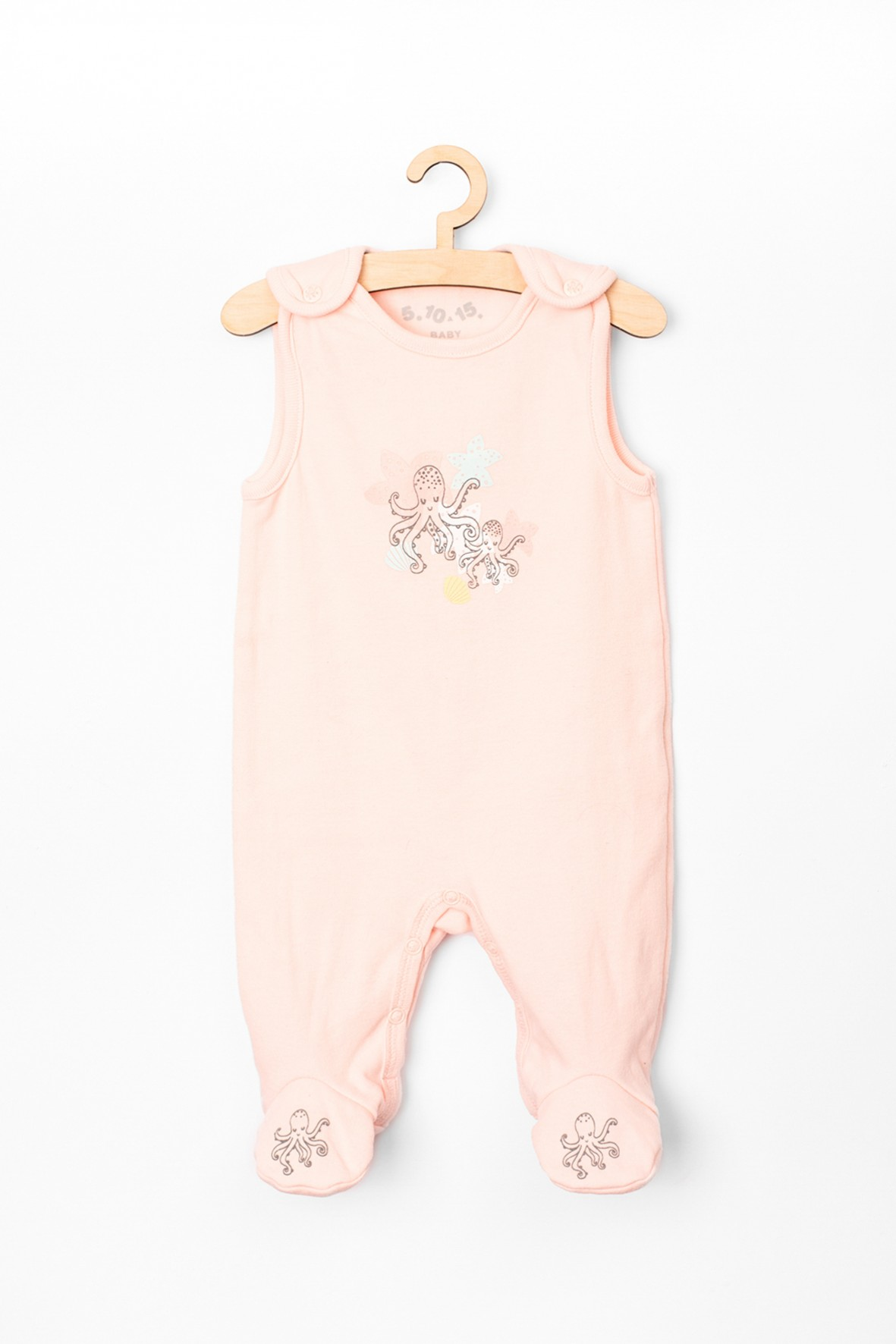 Śpiochy niemowlęce różowe- 100% bawełna