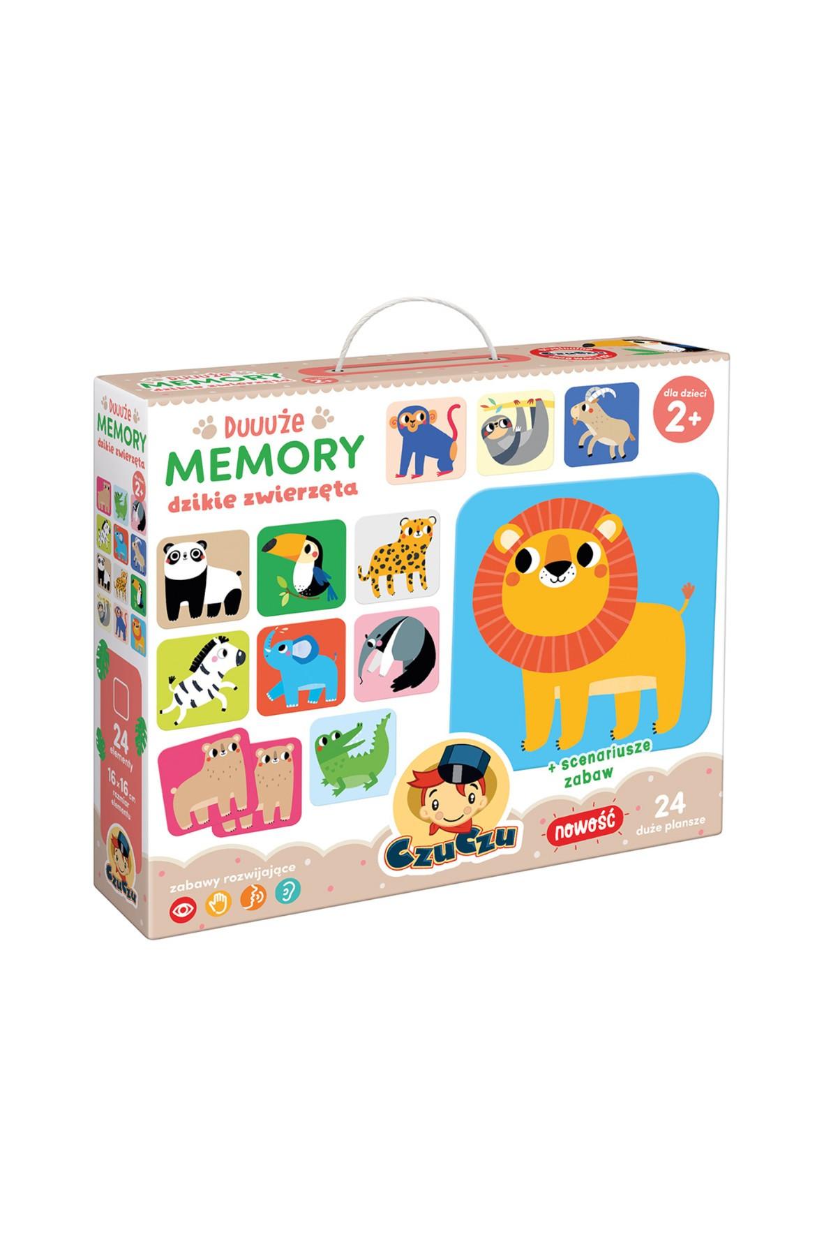 Gra Duuuże memory Dzikie zwierzęta wiek 2+