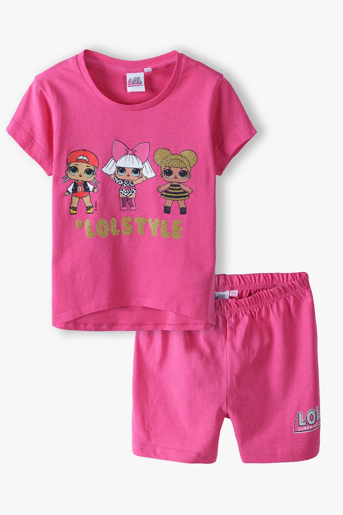 Piżama dziewczęca LOL Surprise- różowa