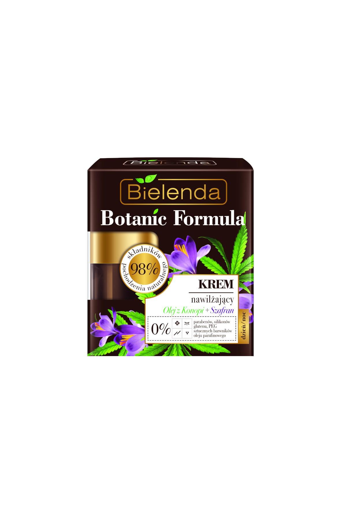 BOTANIC FORMULA Olej z Konopi + Szafran Krem nawilżający dzień/ noc - 50 ml