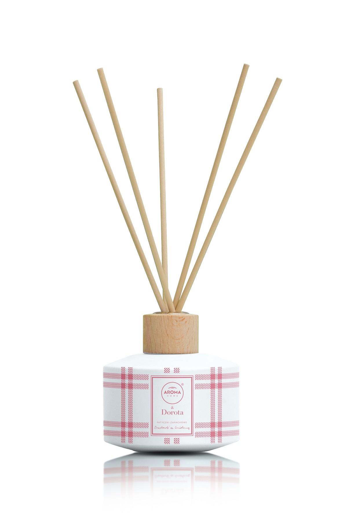 Aroma Home & Dorota Patyczki zapachowe 100ml Truskawki ze Śmietaną