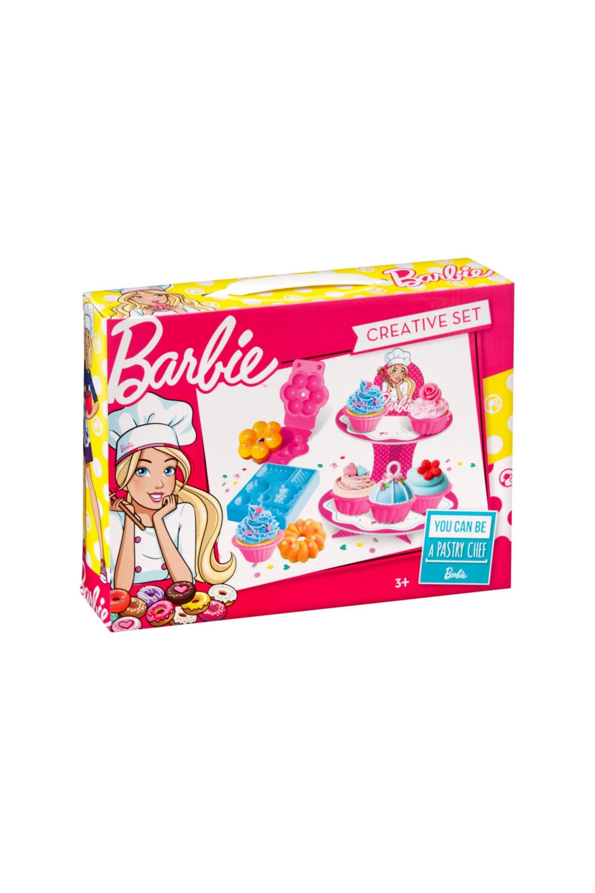 Barbie masa plastyczna- babeczki