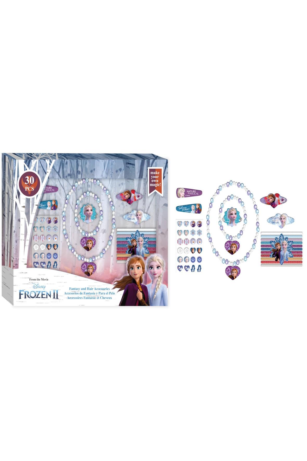 Zestaw biżuterii i akcesoriów do włosów 30 el. Frozen