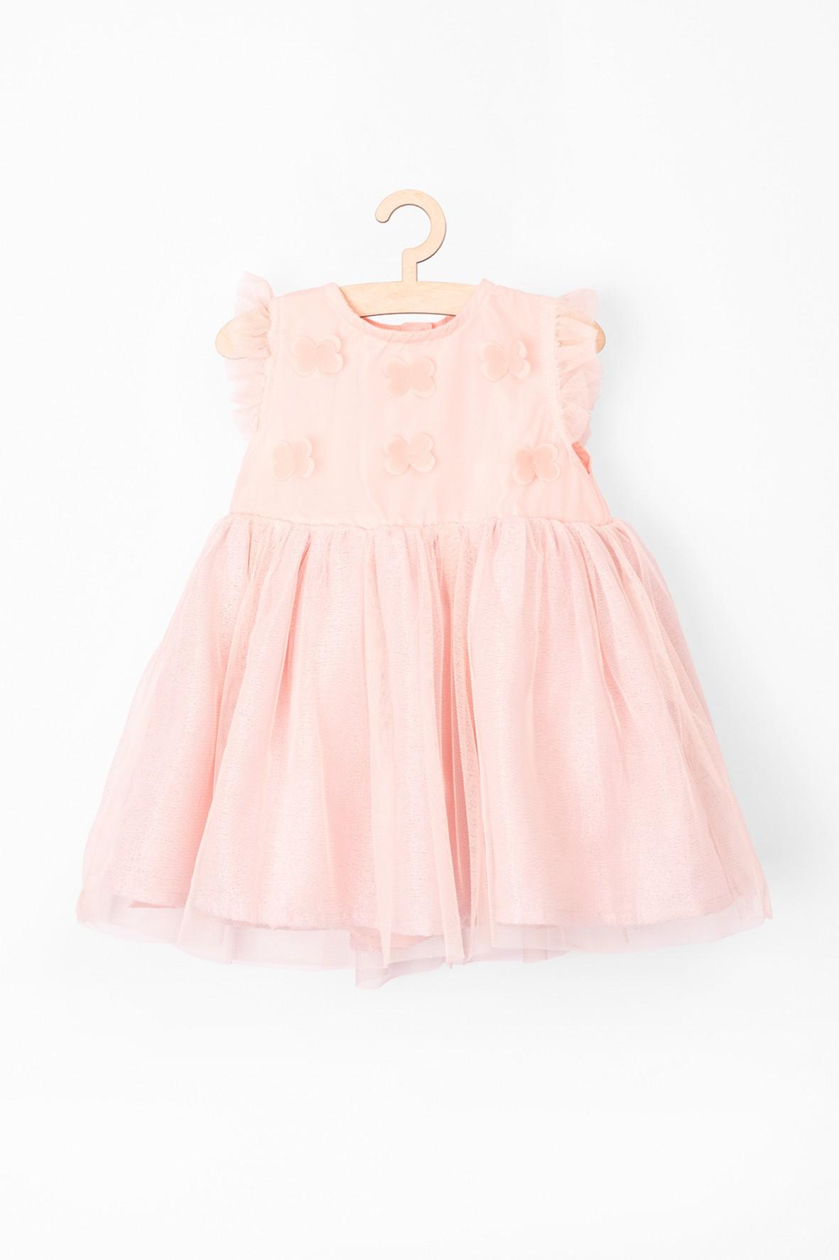 Tiulowa, elegancka sukienka dla niemowlaka