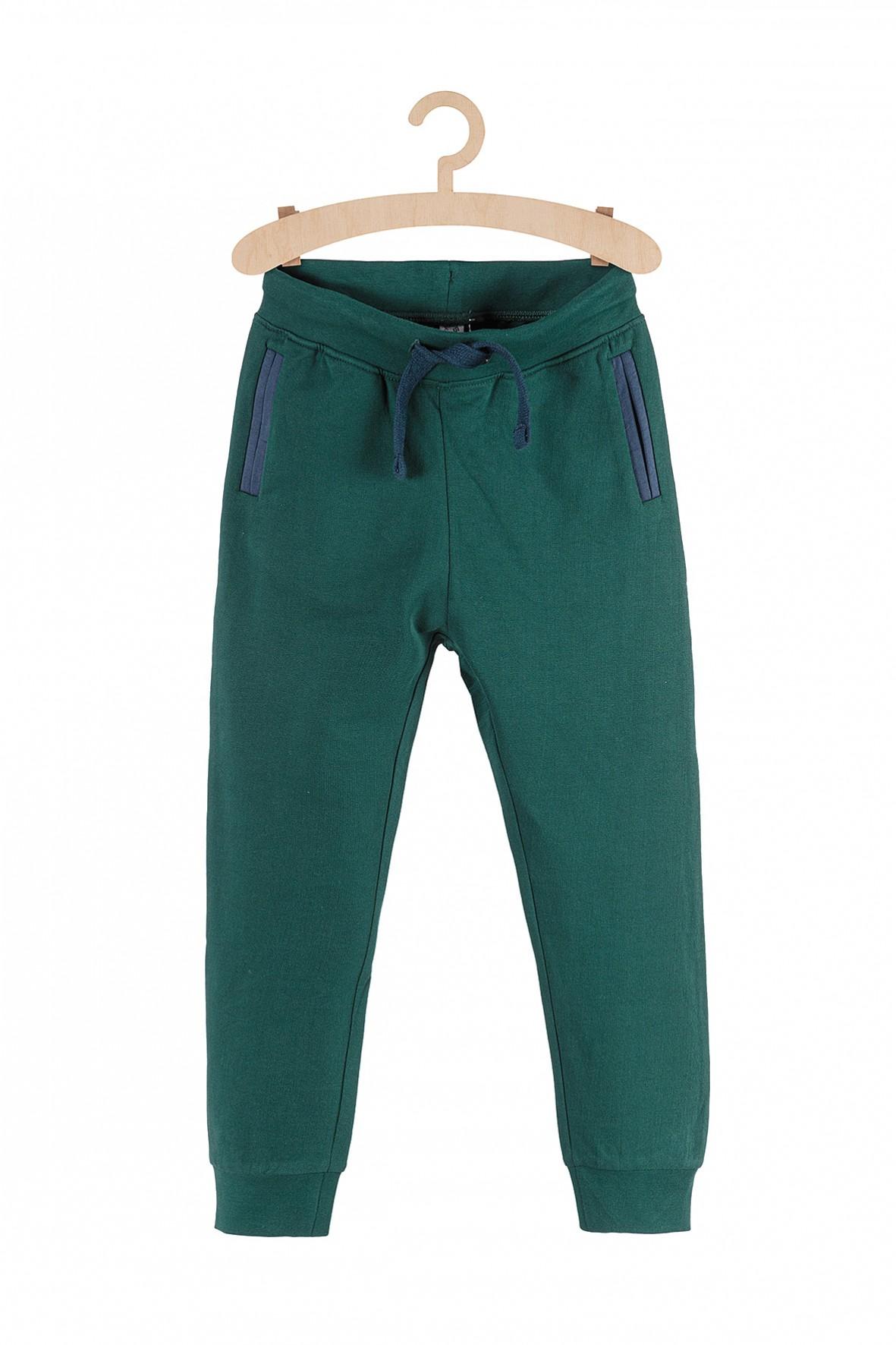 Dresowe spodnie dla chłopca-zielone