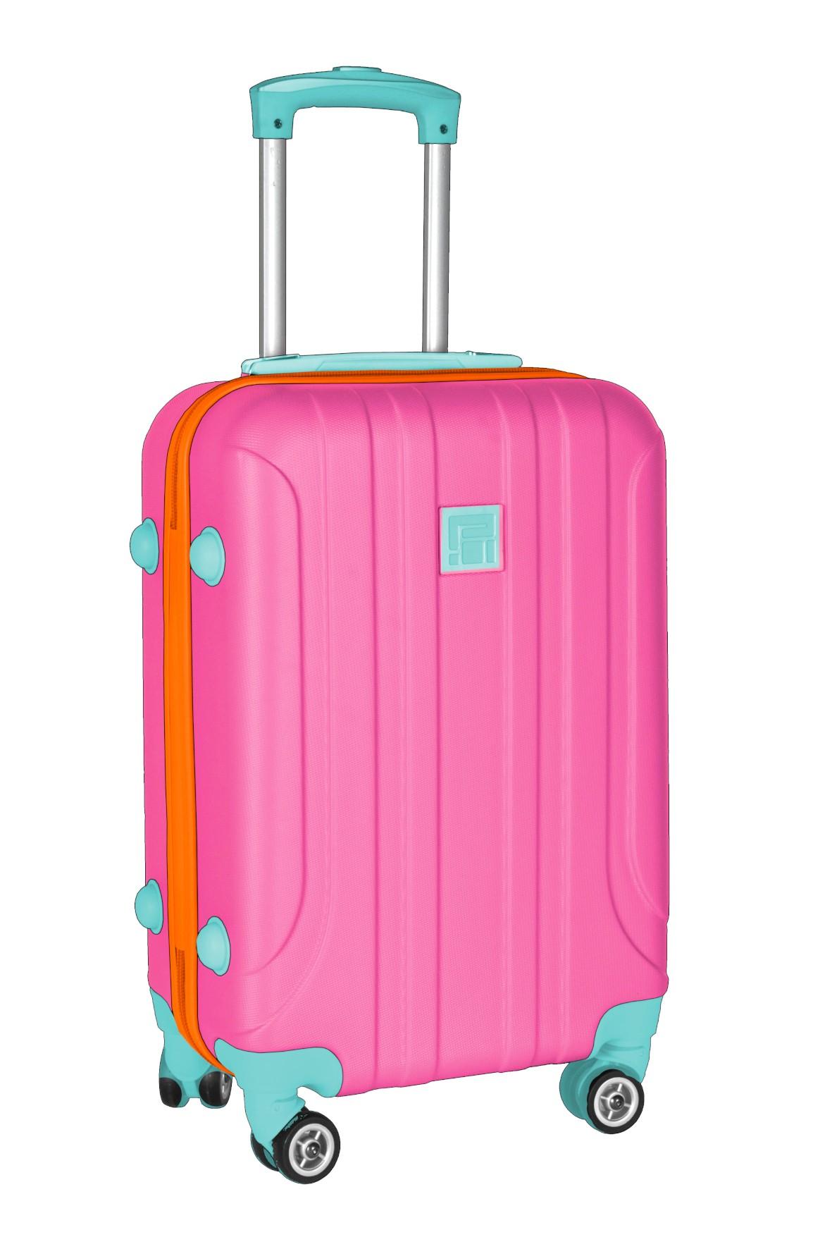 Średnia walizka PASO różowa 66×45×27cm