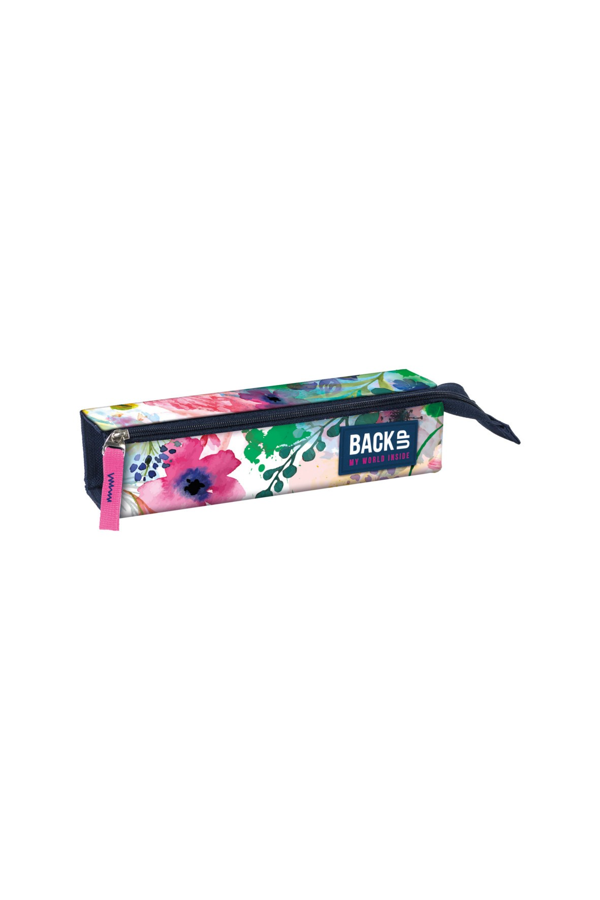 Piórnik szkolny dla dziewczęcy w kwiaty