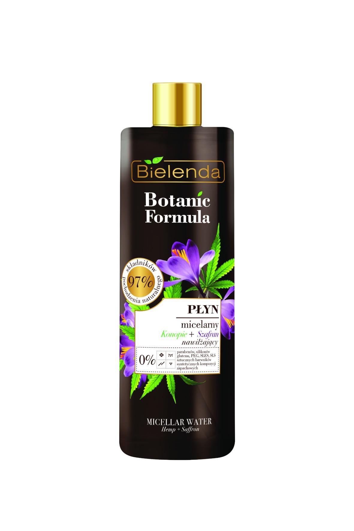BOTANIC FORMULA Konopie + Szafran Płyn micelarny - 500 ml