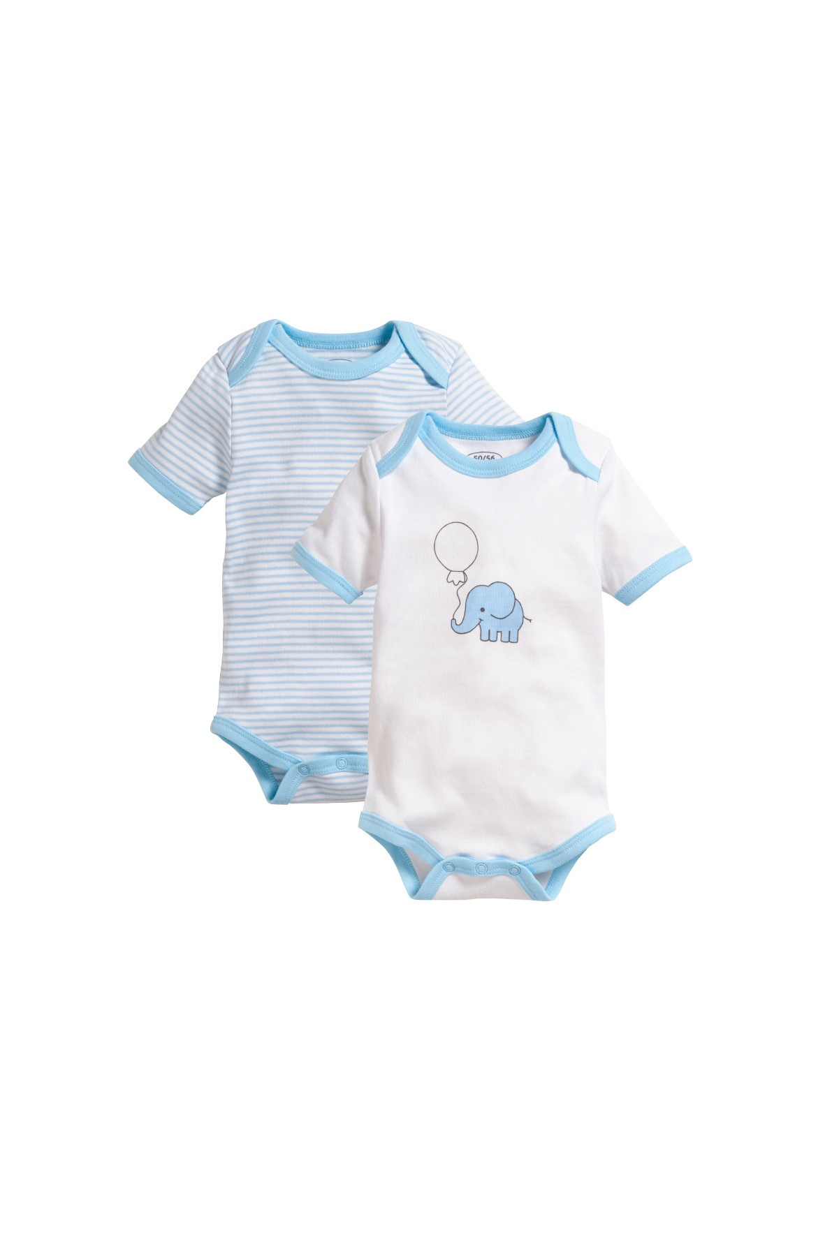 Body niemowlęce niebieskie-słonik 2pak