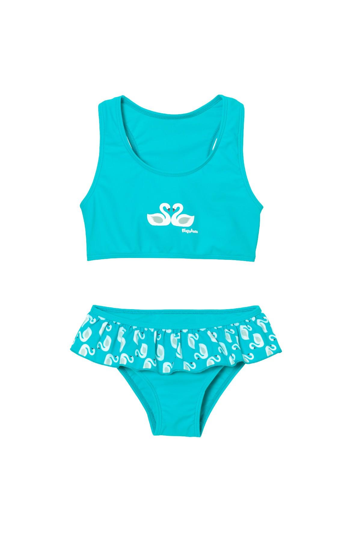 Strój kąpielowy dla dziewczynki z filtrem UV-niebieski
