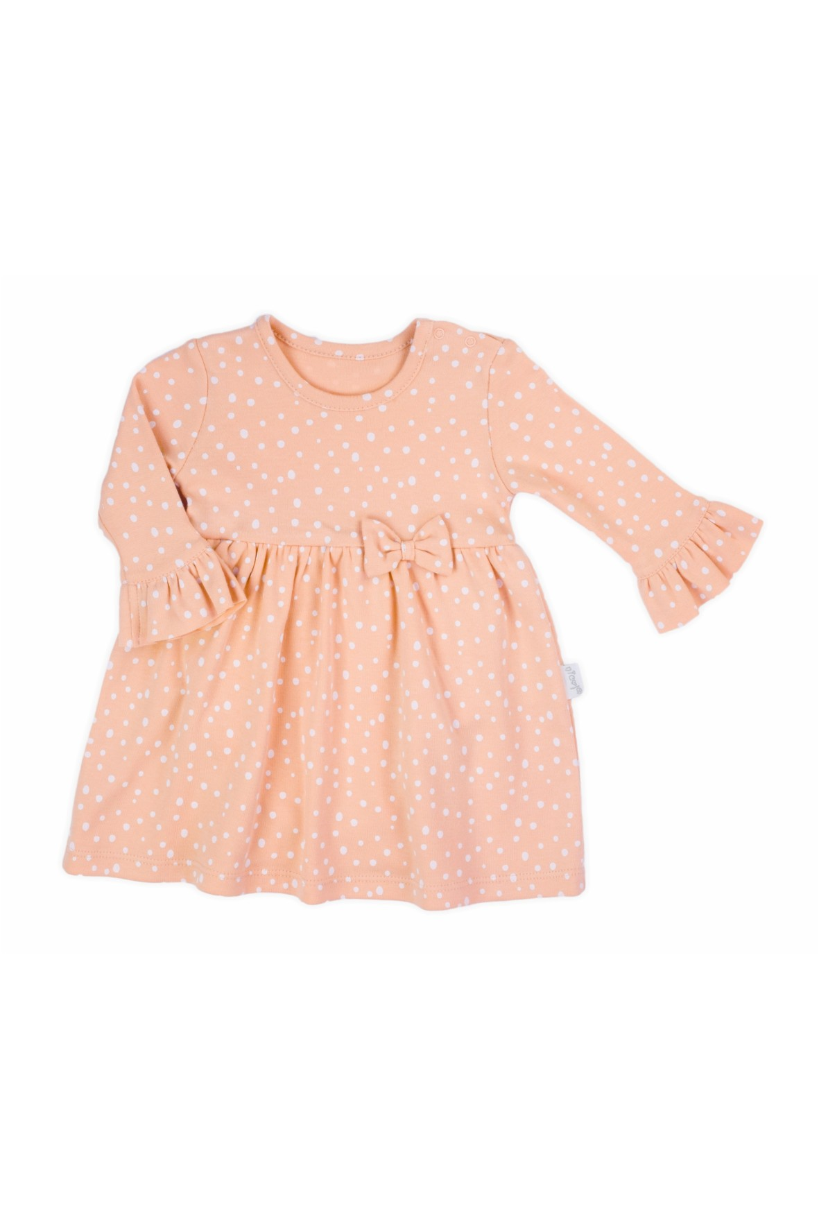Sukienko-body z długim rękawem w kropeczki