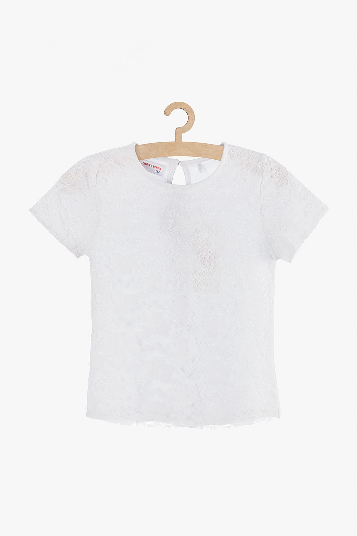 Biała koronkowa bluzka dla dziewczynki