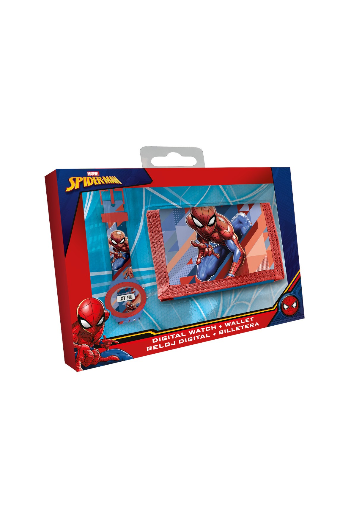 Zestaw zegarek cyfrowy z portfelikiem Spiderman