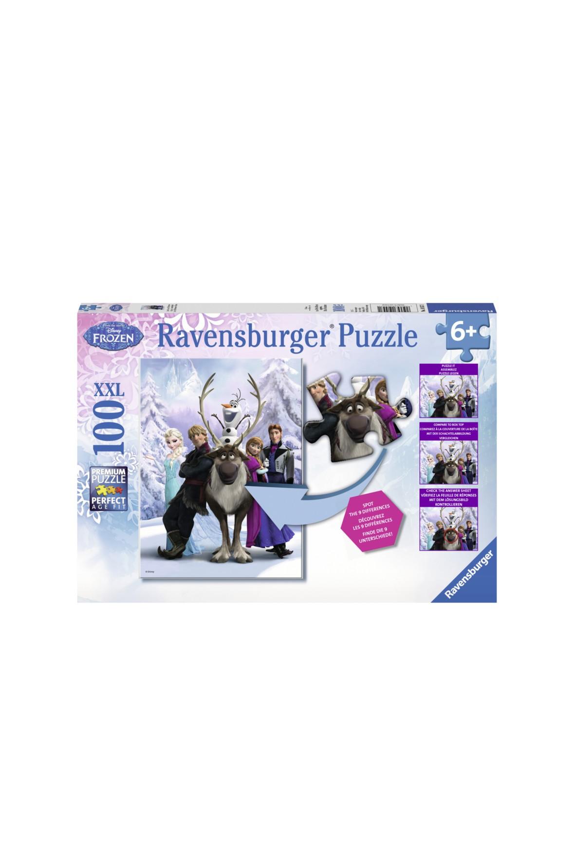 Puzzle Kraina Lodu - Znajdź różnicę 100el
