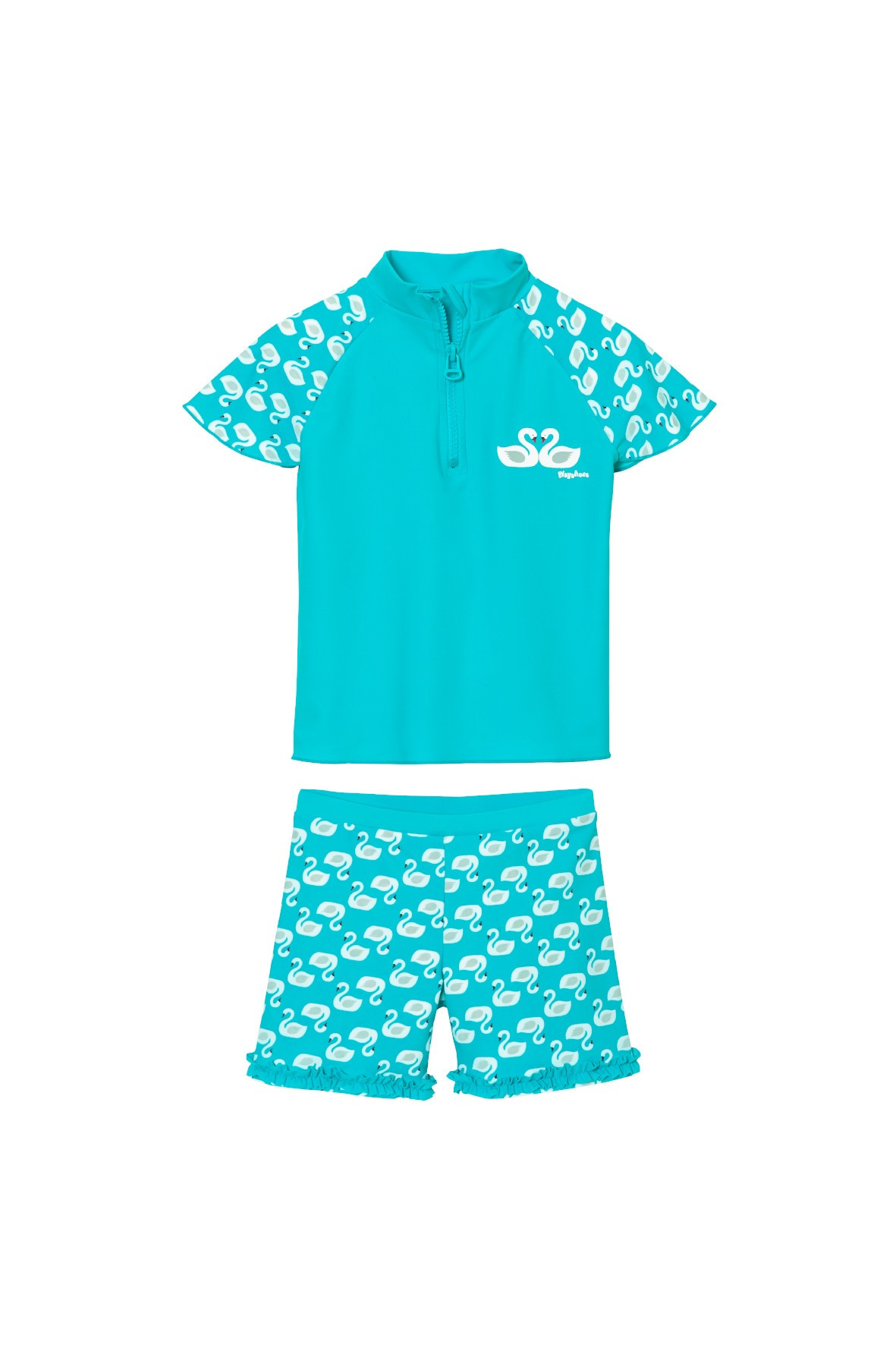 Dzięwczęcy strój kąpielowy z filtrem UV-niebieski w łabędzie