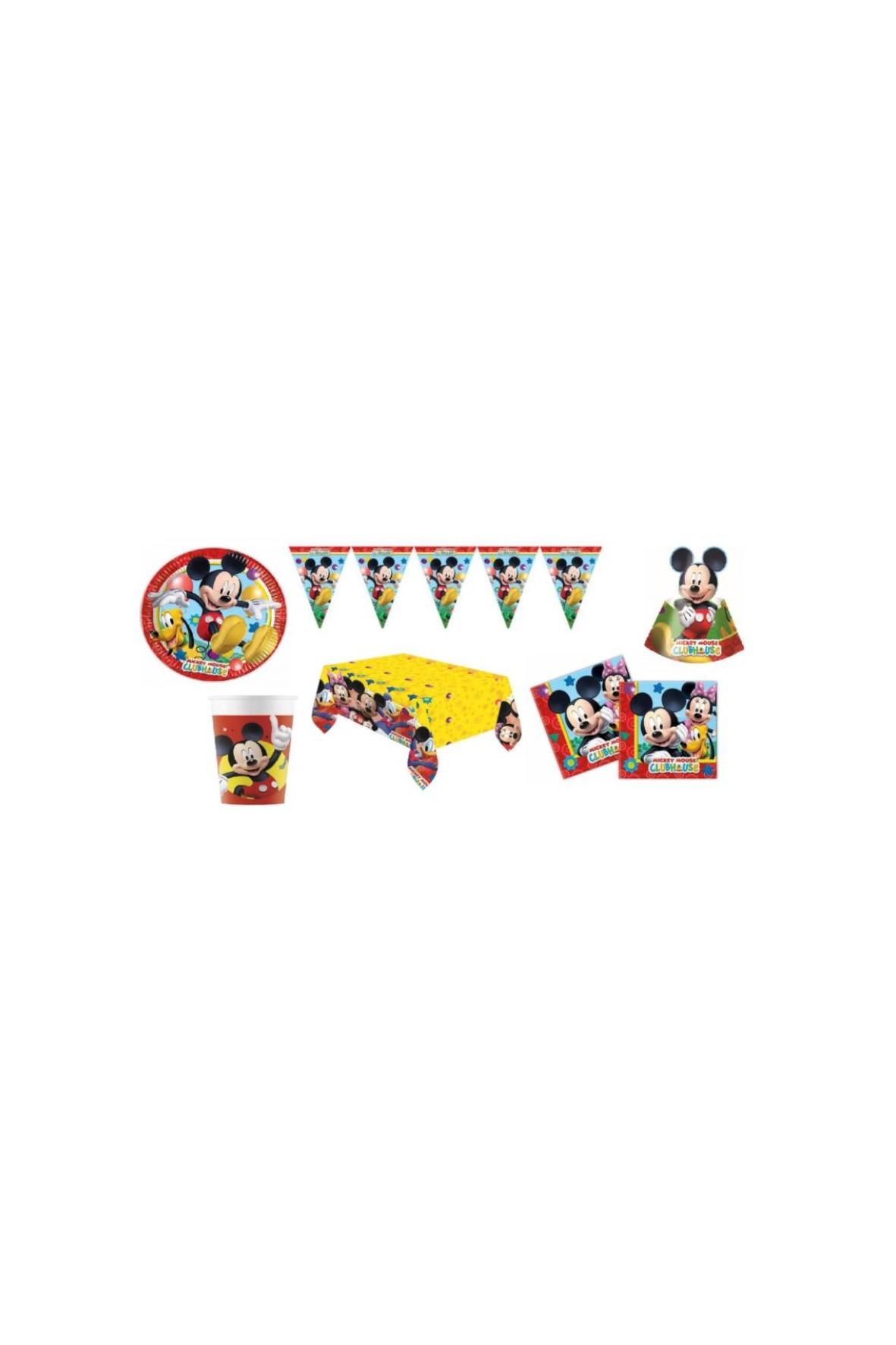 Zestaw urodzinowy Myszka Mickey        - 44 elementy